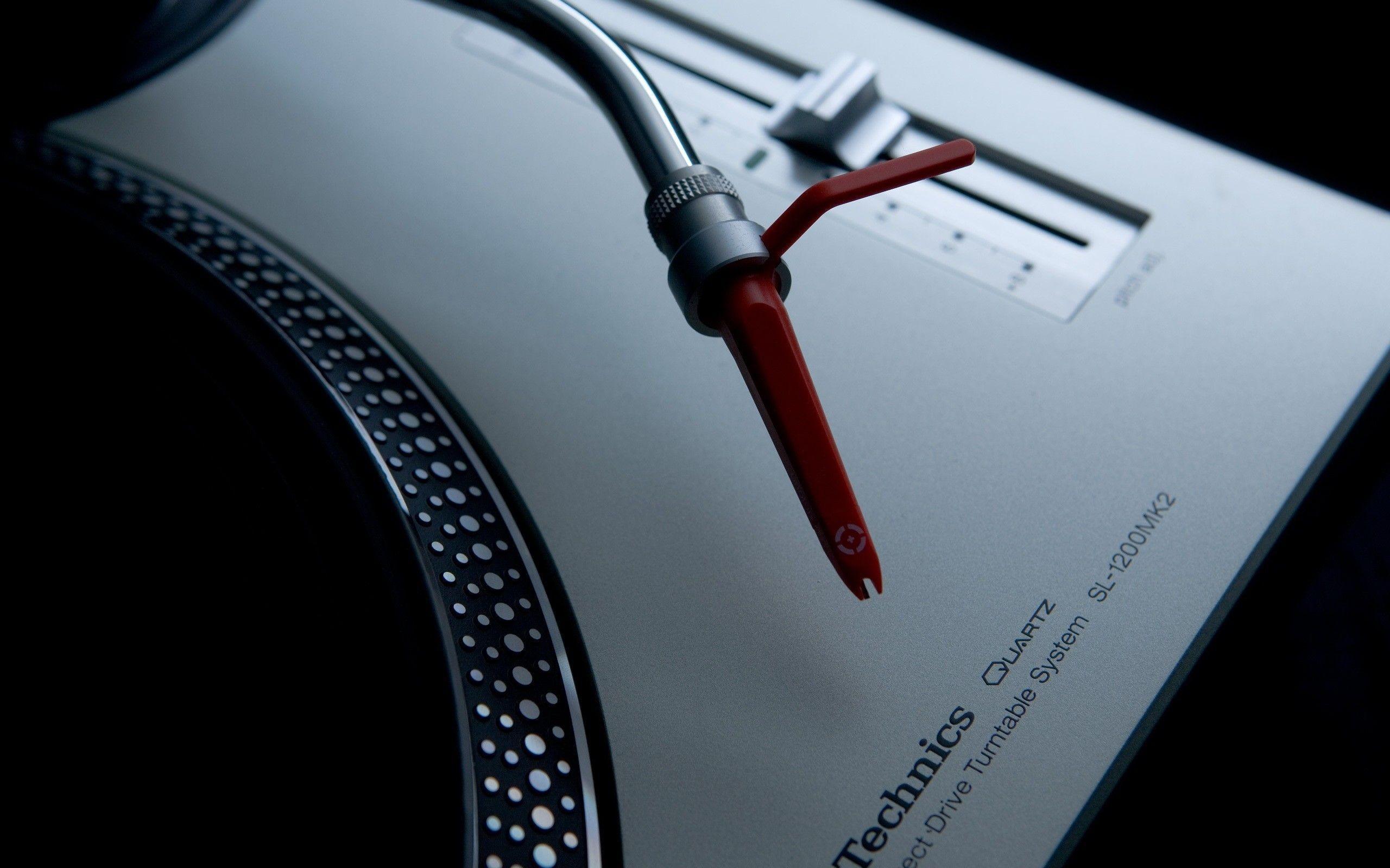 Res: 2560x1600, Music artistic studio techno turntables technics dj wallpaper .