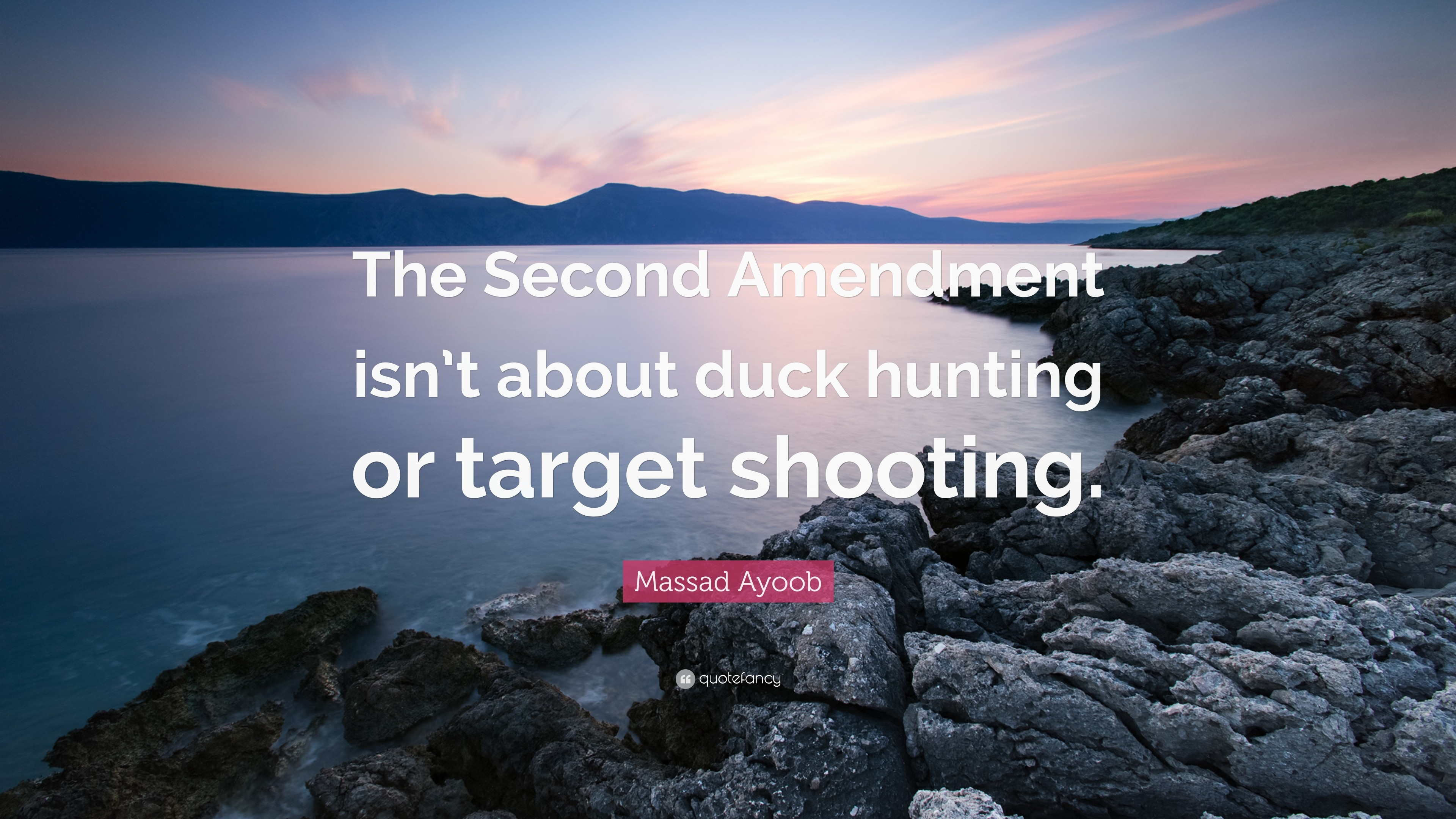 "Res: 3840x2160, Massad Ayoob Quote: ""The Second Amendment isn't about duck hunting or target"
