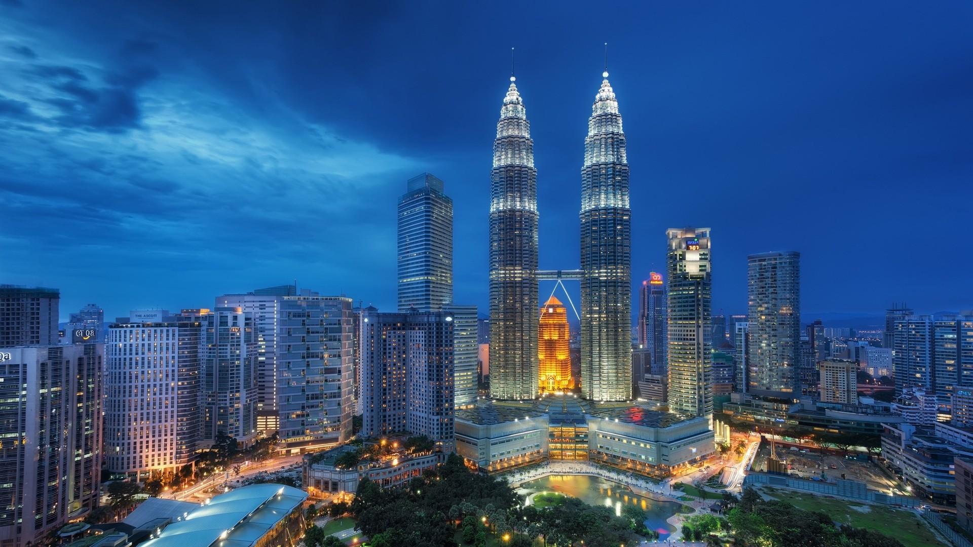 Res: 1920x1080, singapore, night, petronas twin towers