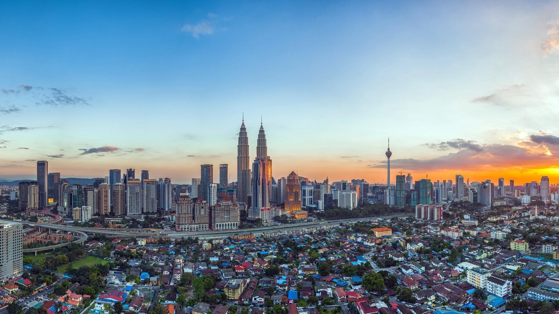 Res: 1920x1080, malaysia, petronas twin towers, sky