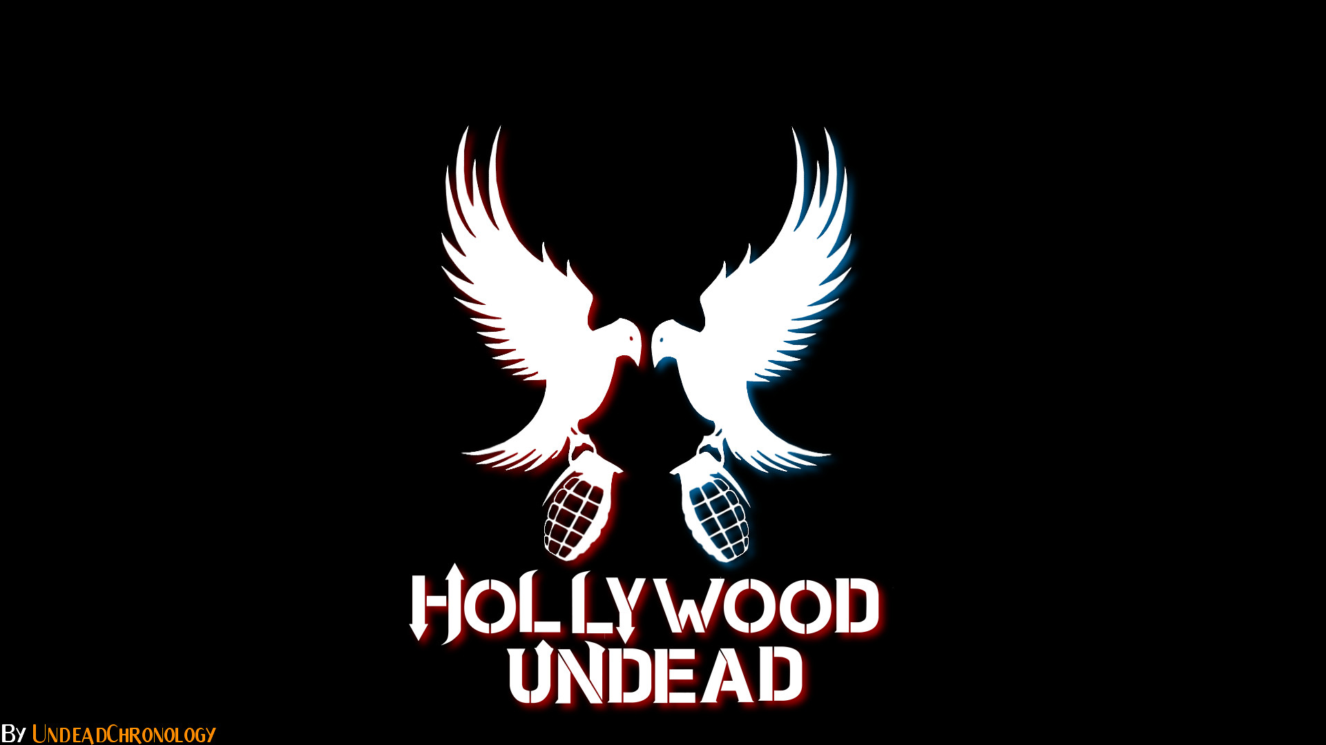 Res: 1920x1080, Wallpaper for Android: Hollywood Undead Logo