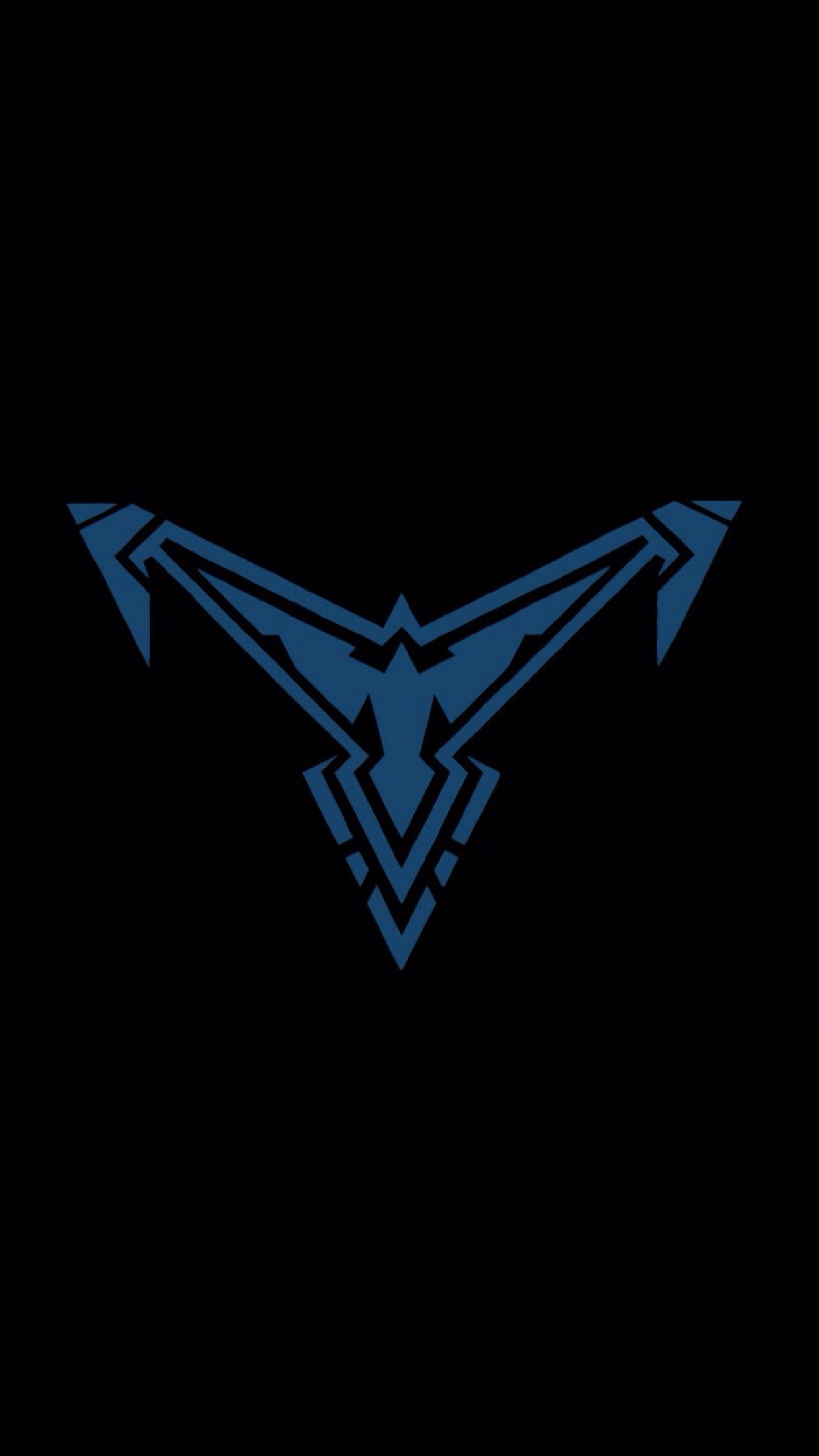 Res: 1242x2208, New Nightwing logo