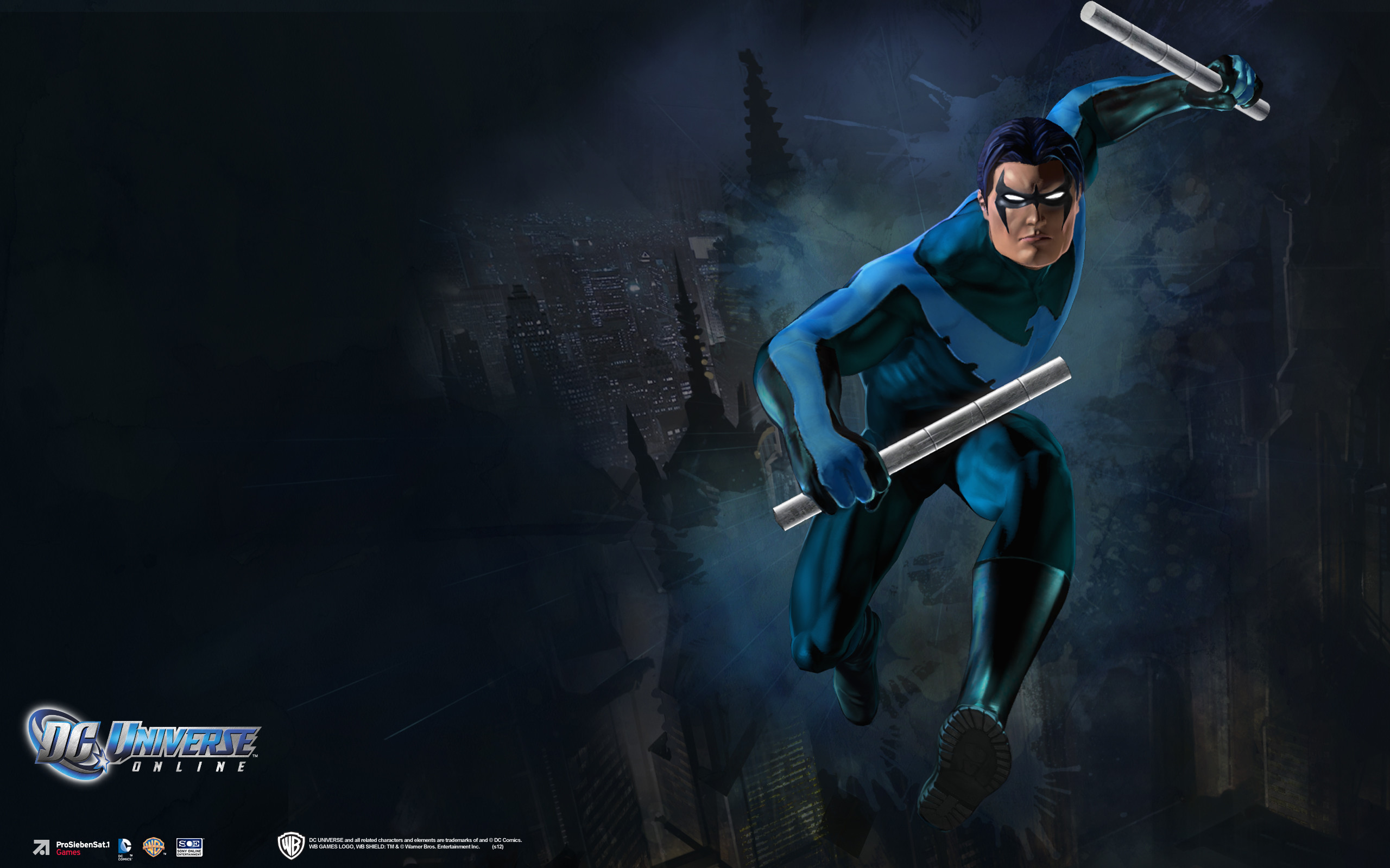 Res: 2560x1600, DC Universe Online Nightwing Wallpapers