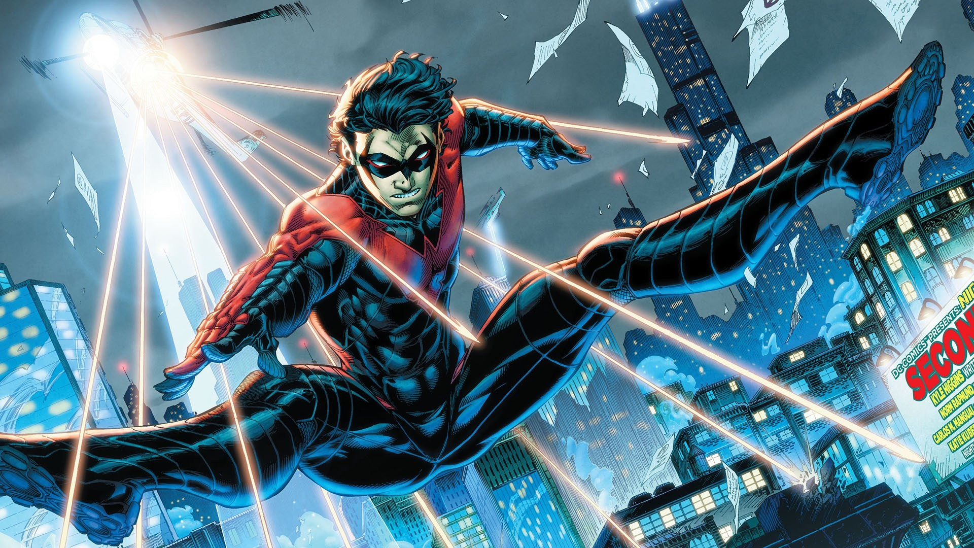 Res: 1920x1080, Superhero Nightwing (Dick Grayson) DC 1080p HD Wallpaper Background