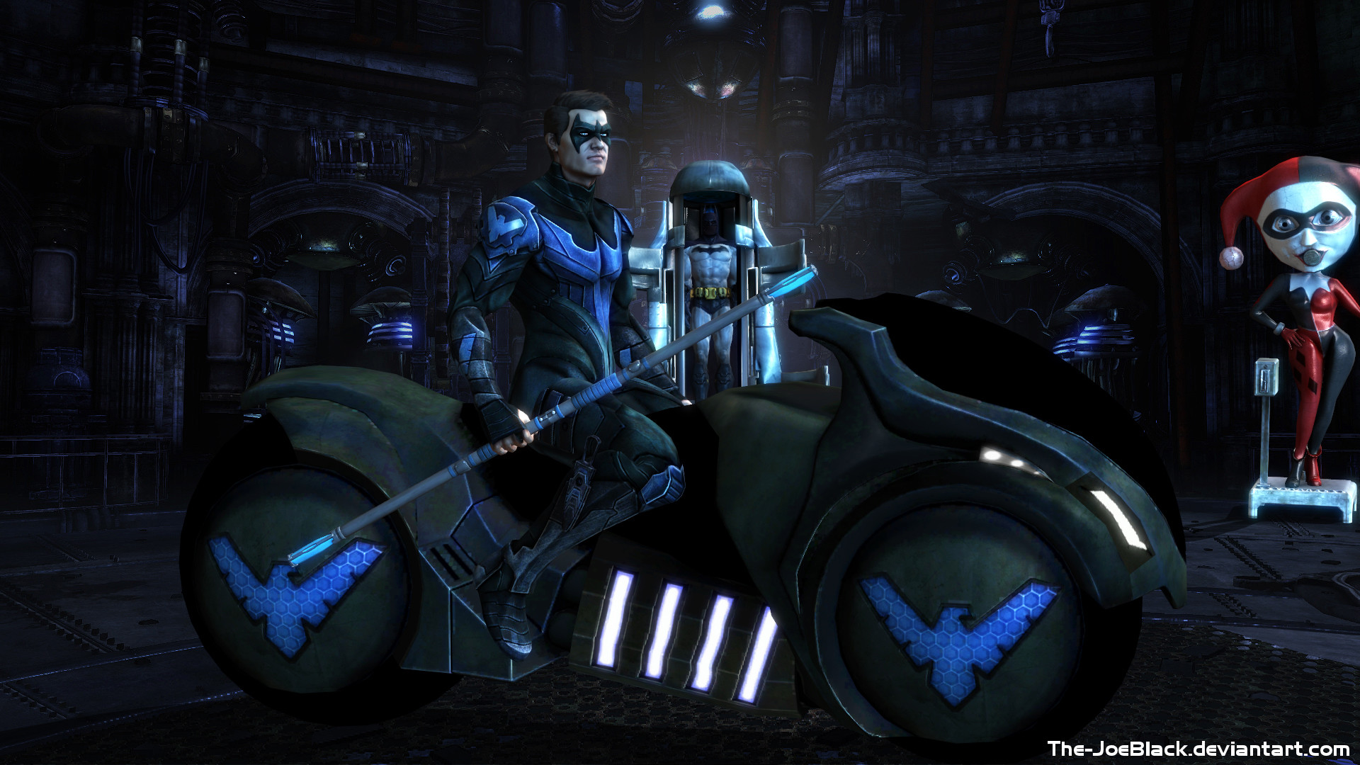 Res: 1920x1080, Injustice Nightwing wallpaper by The JoeBlack