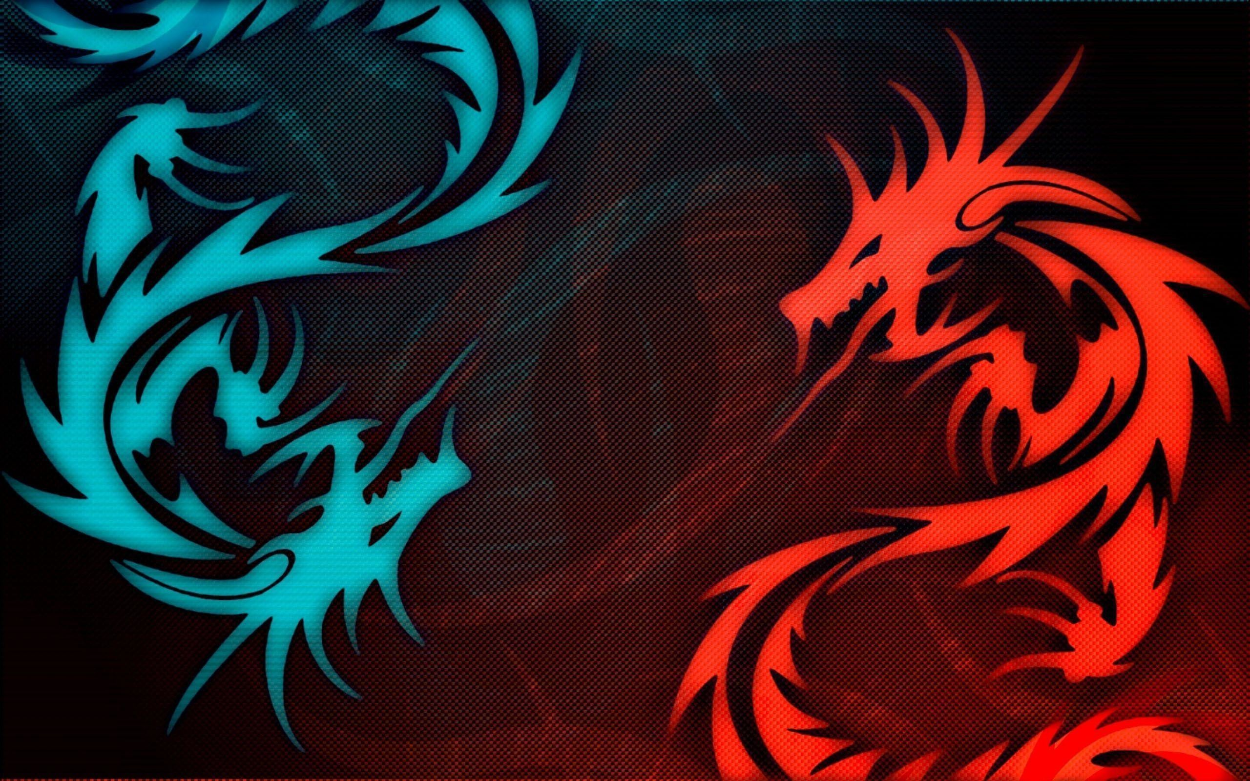 Res: 2560x1600, Wallpapers For > Black And Blue Dragon Wallpaper