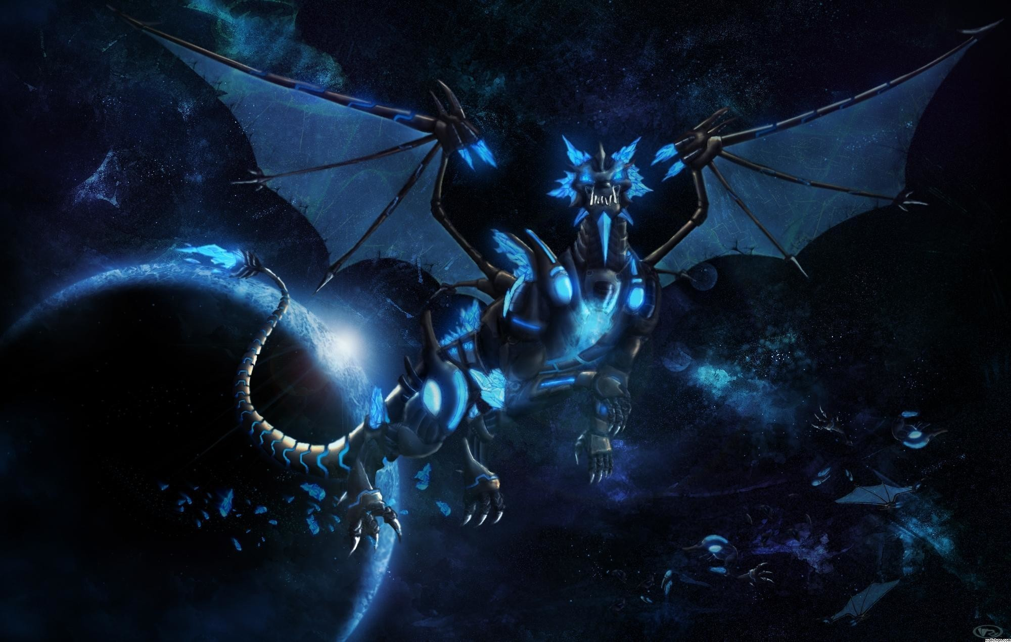Res: 2000x1271,  Wallpapers For > Blue Dragon Wallpaper Hd
