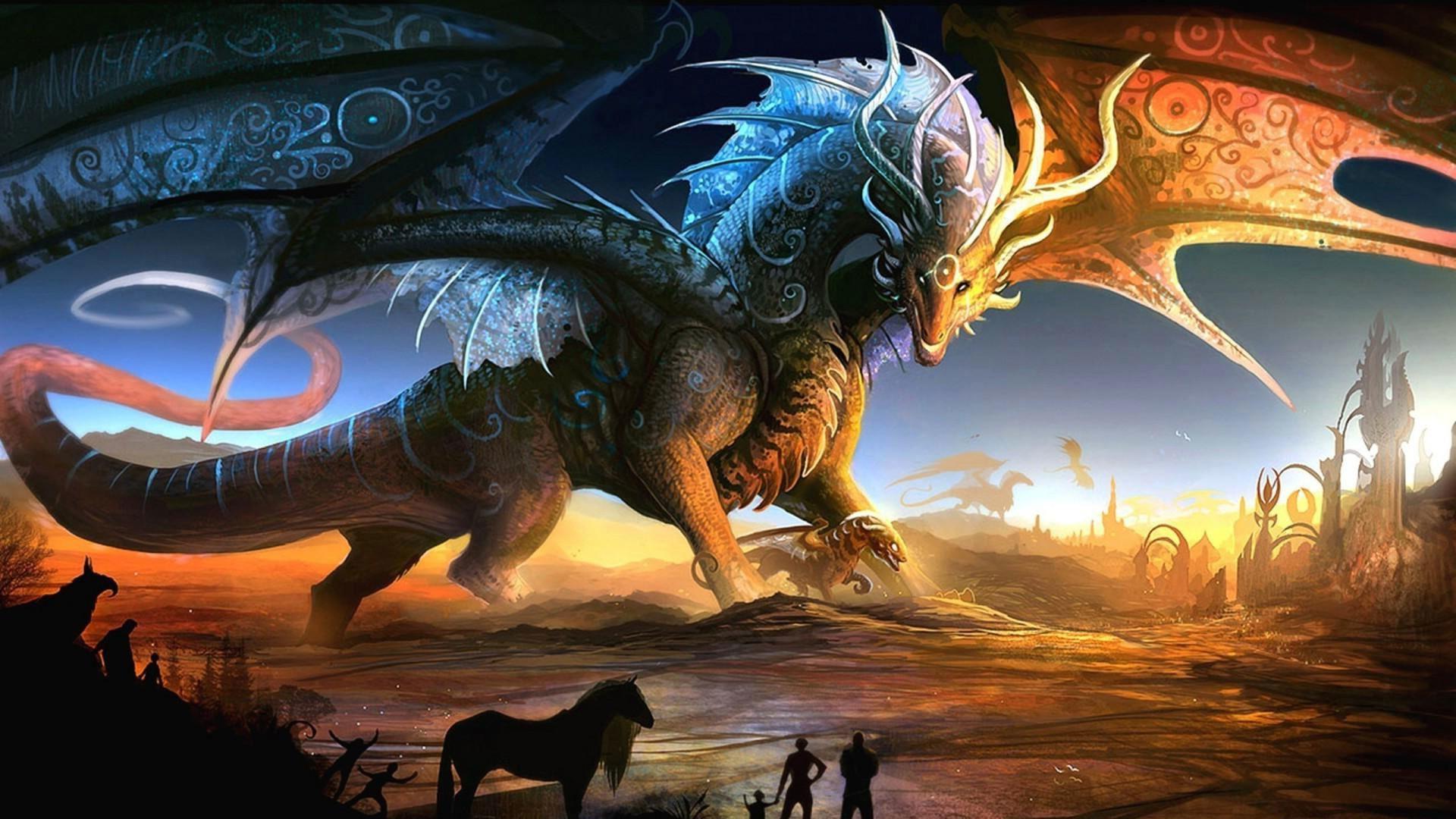 Res: 1920x1080, Fantasy Dragon Wallpaper