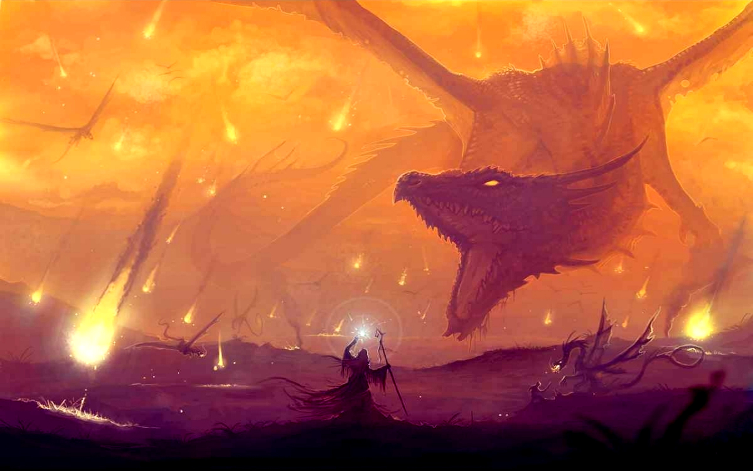 Res: 2560x1600, Fantasy Dragon