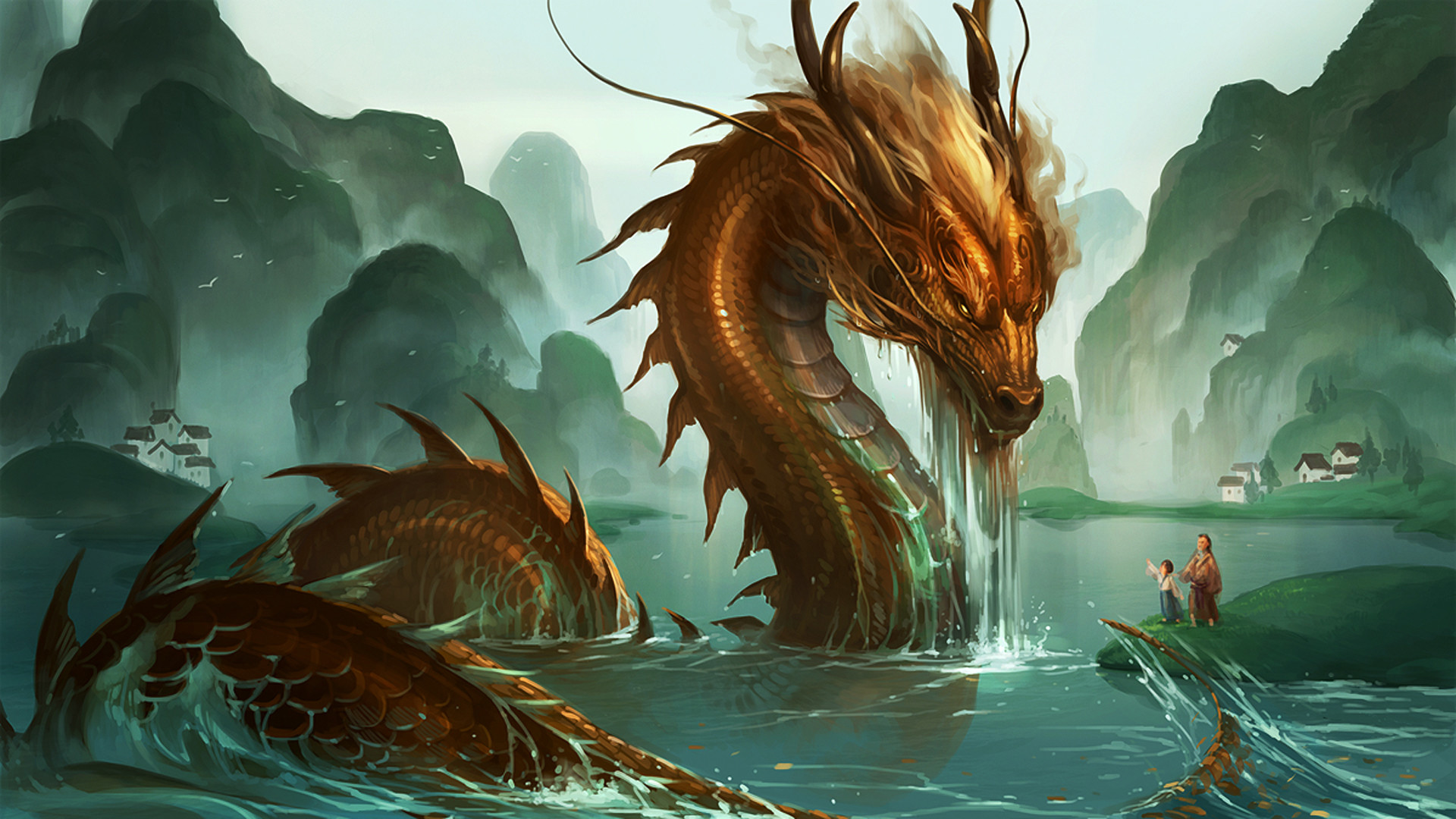 Res: 1920x1080, WO37: Chinese Dragon Wallpaper  Download