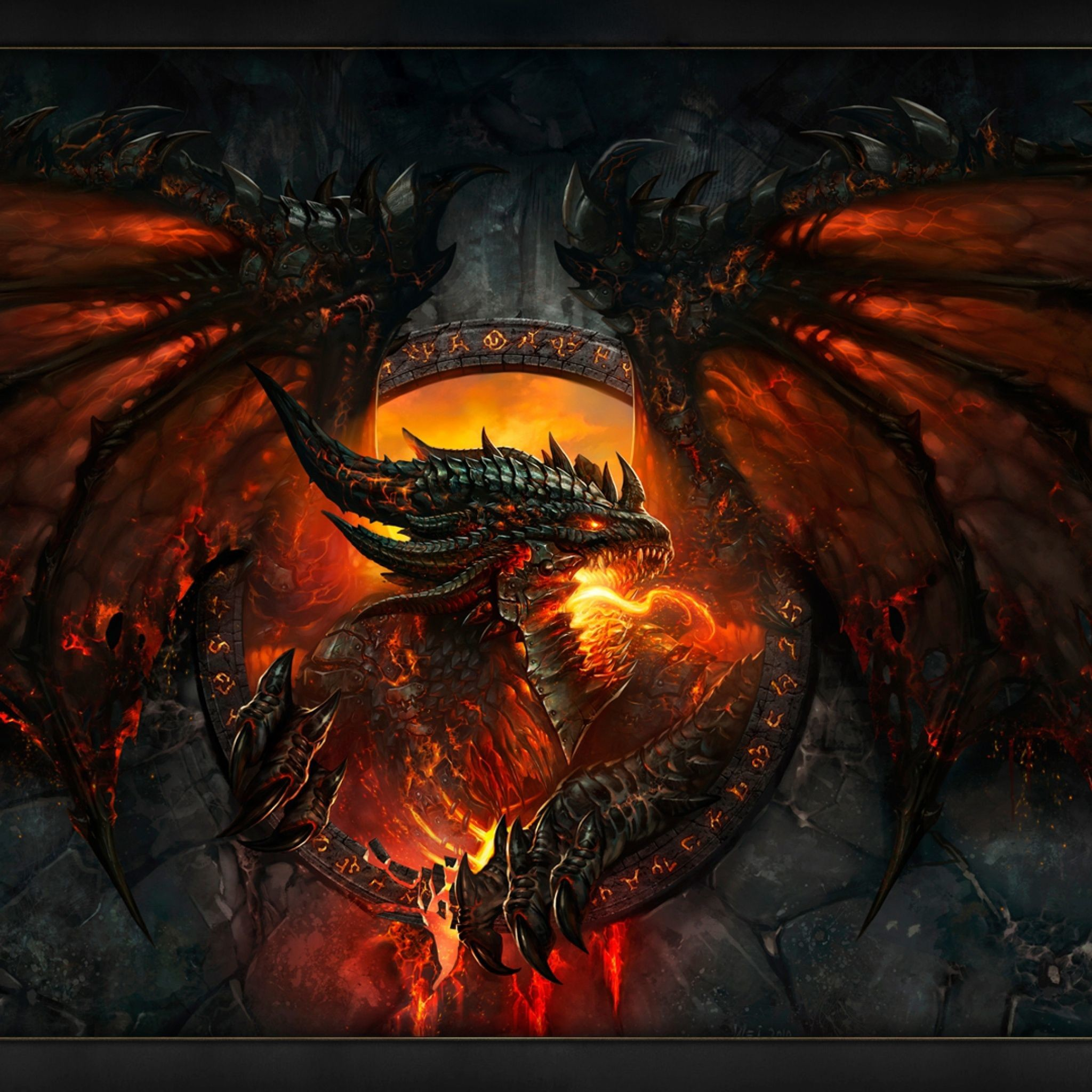 Res: 2048x2048, Warcraft Dragon - Tap to see more mighty dragon wallpapers! - @mobile9