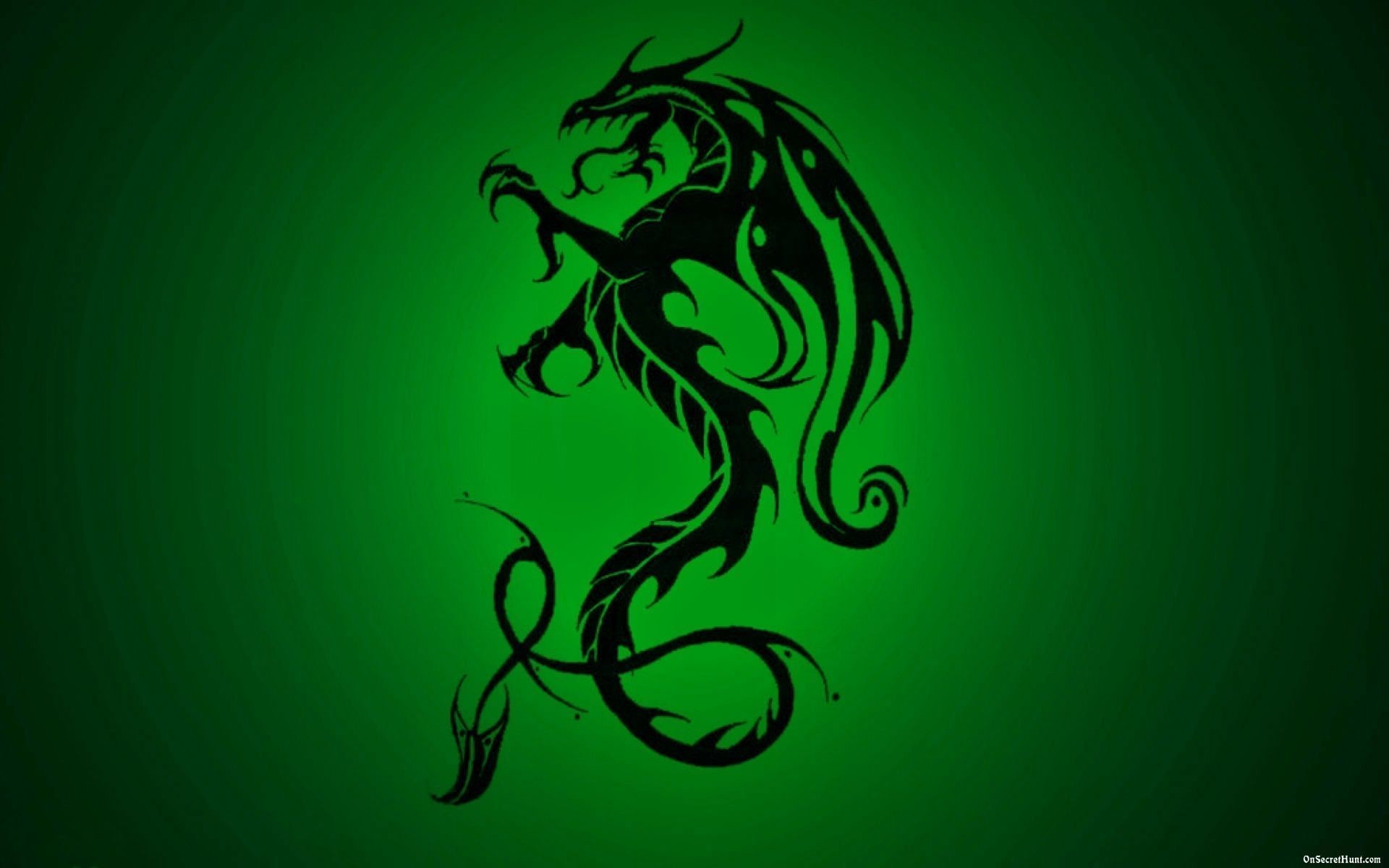 Res: 1920x1200, Green Dragon Wallpaper