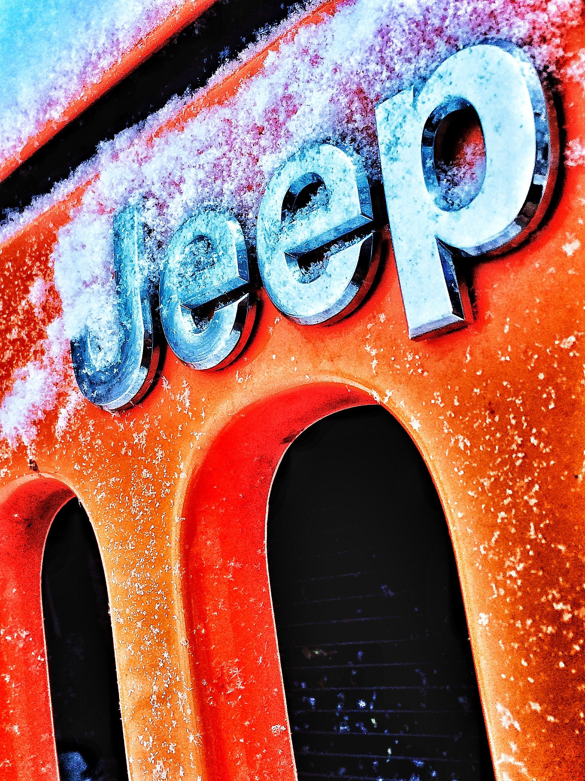 Res: 1960x2614, Jeep grill and emblem iPhone wallpaper