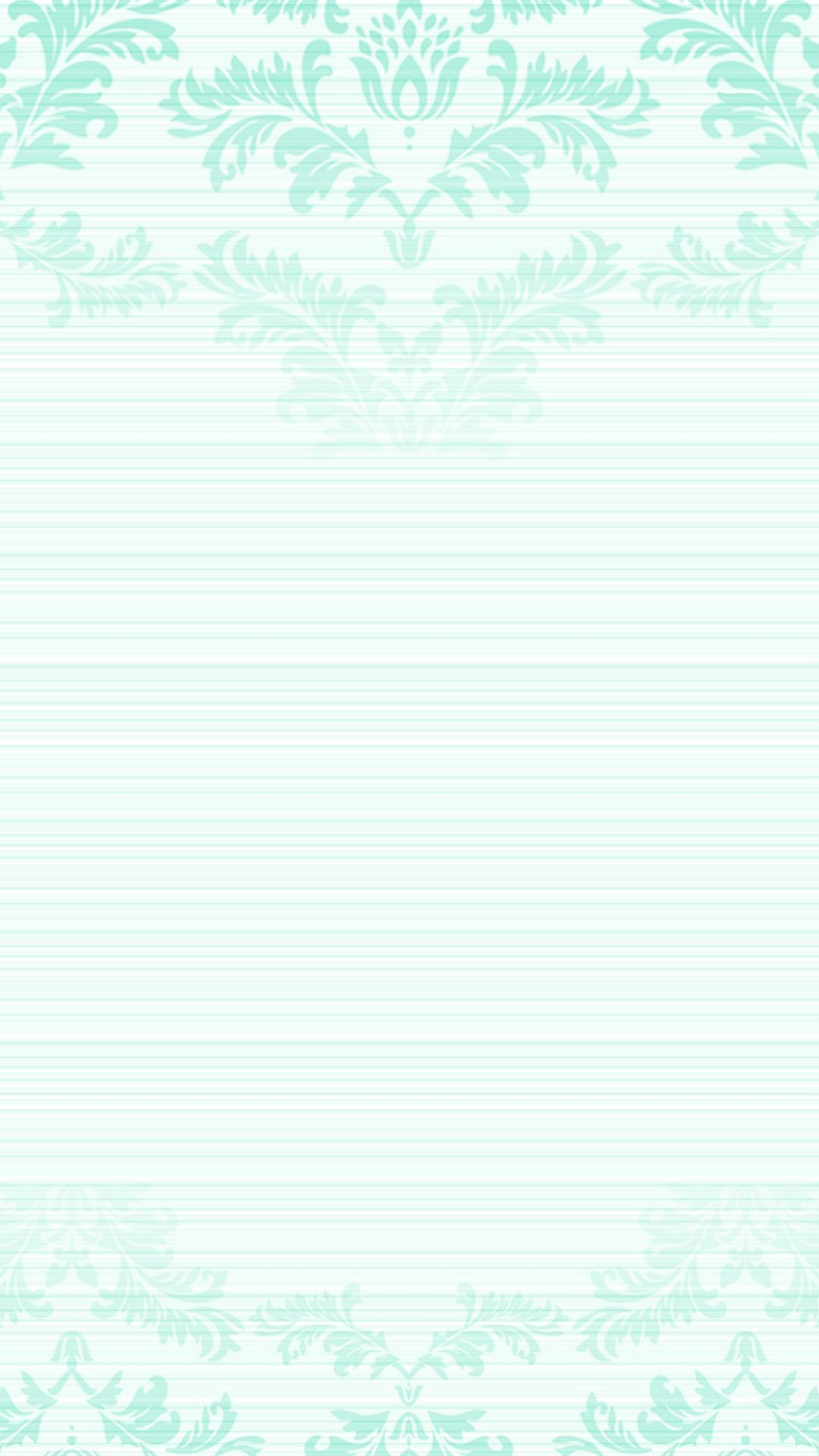 Res: 1080x1920, Pastel mint green ombre damask frame iPhone phone lock screen wallpaper  background
