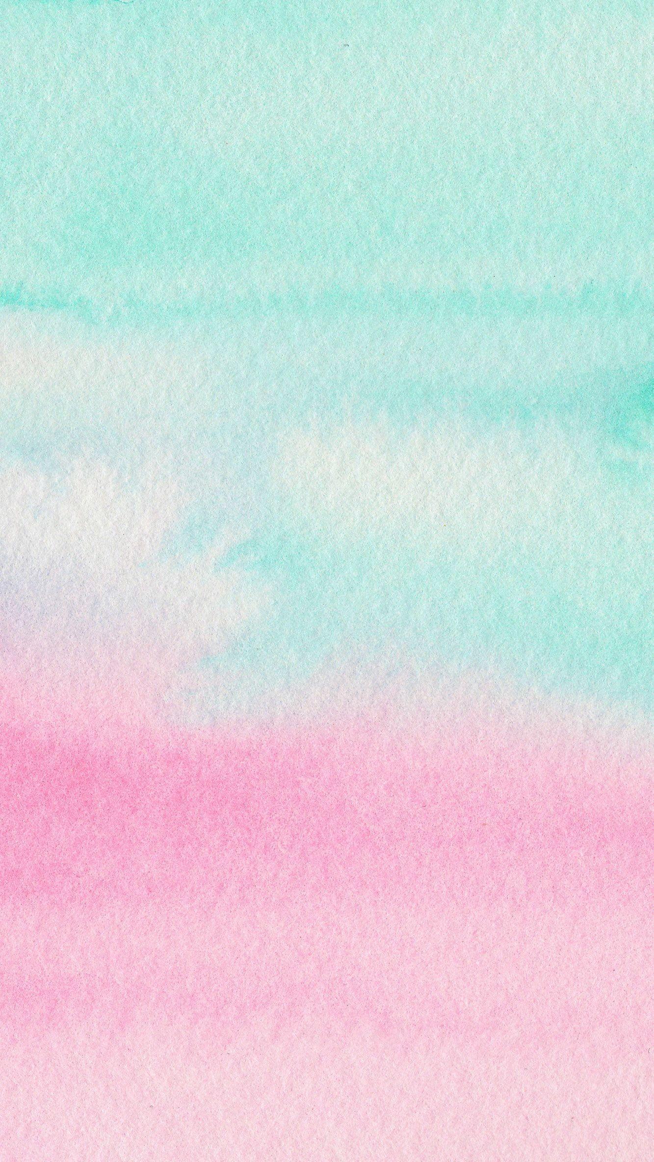 Res: 1333x2367, Mint Aqua pink watercolour ombre texture iphone wallpaper phone background  lock…