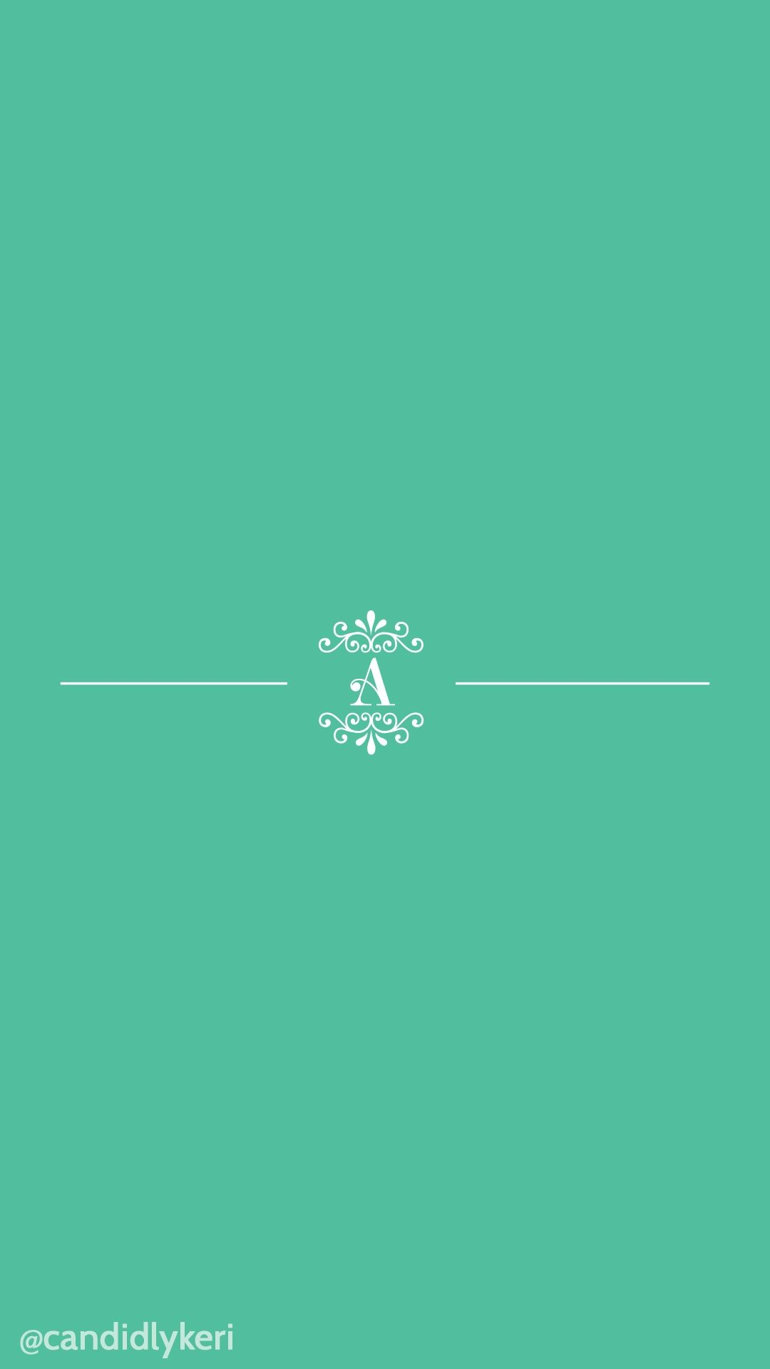 Res: 1080x1920, April 2016 Wallpaper Free Download for mobile, iphone and android, A  Monogram with mint