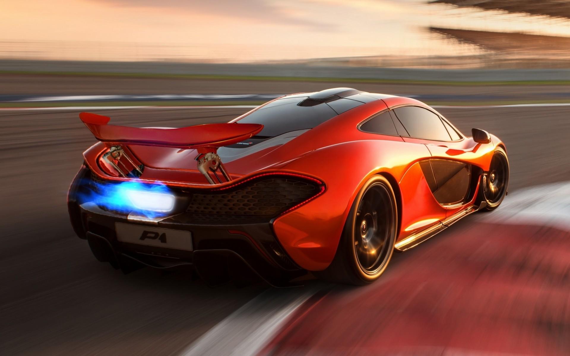 Res: 1920x1200, McLaren P1 Orange Wallpaper