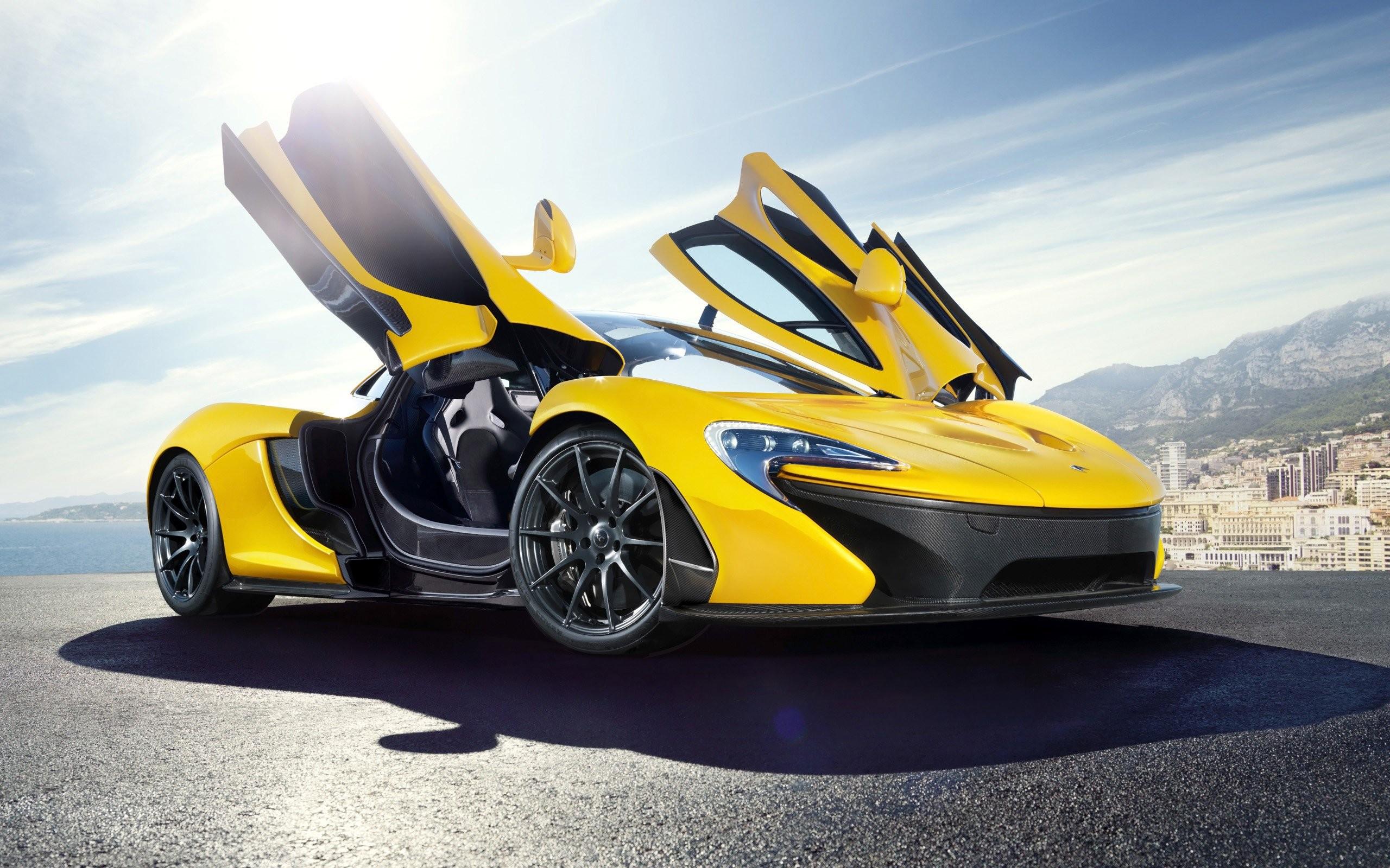 Res: 2560x1600, Yellow Mclaren P1
