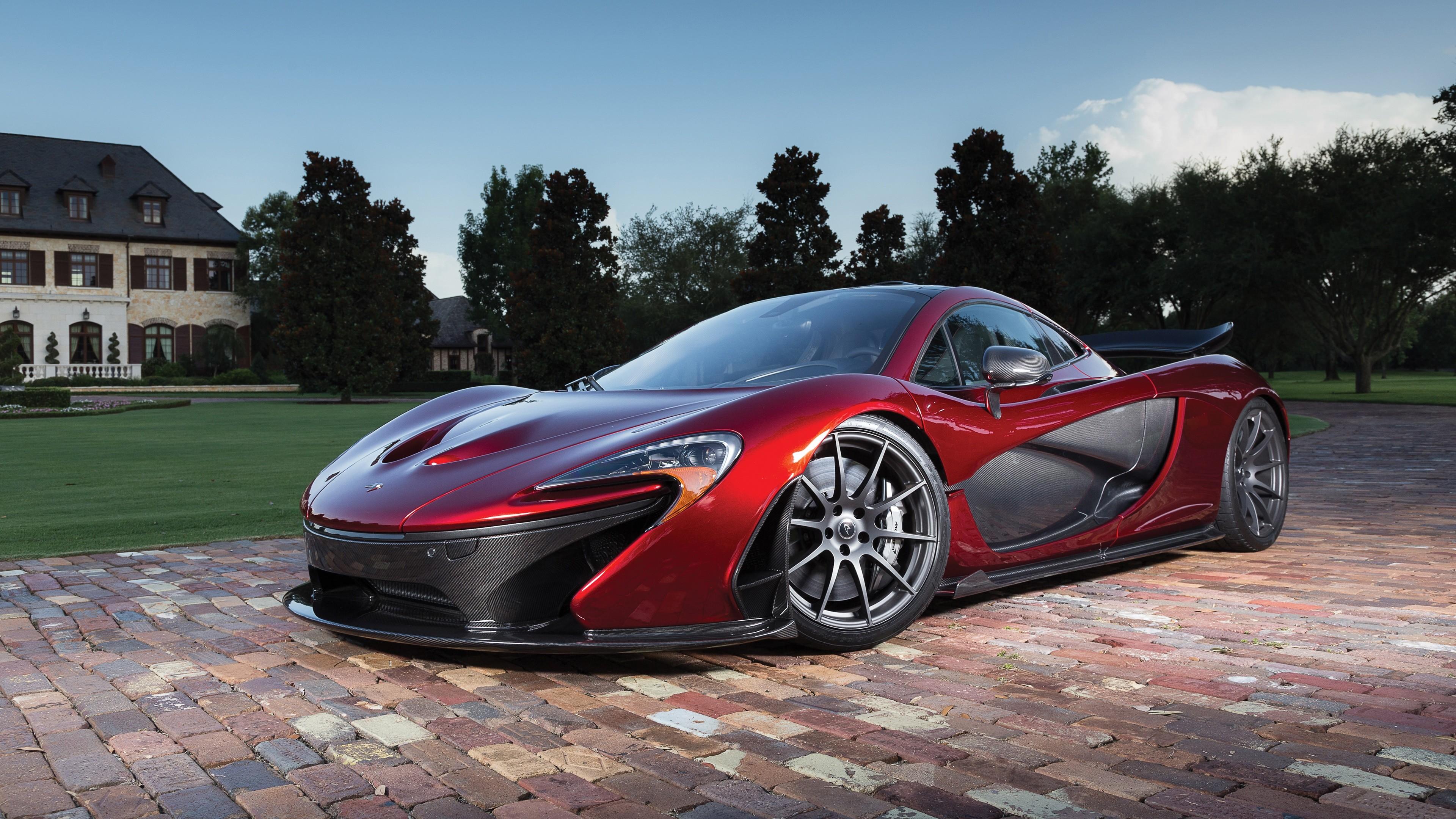 Res: 3840x2160, McLaren P1 red supercar at dusk 4k Ultra HD Wallpaper
