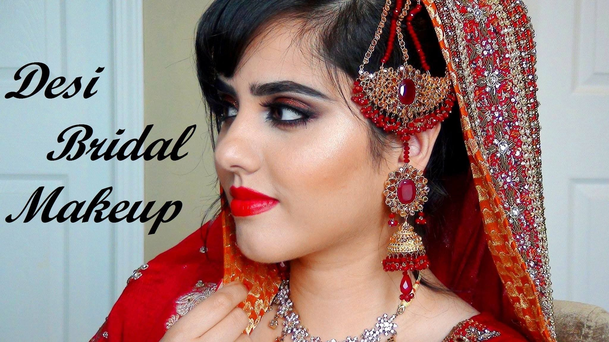 Res: 2048x1152, INDIAN/PAKISTANI/PUNJABI/BRIDAL Makeup For Red/Orange Outfit| Ethereal Girl - YouTube