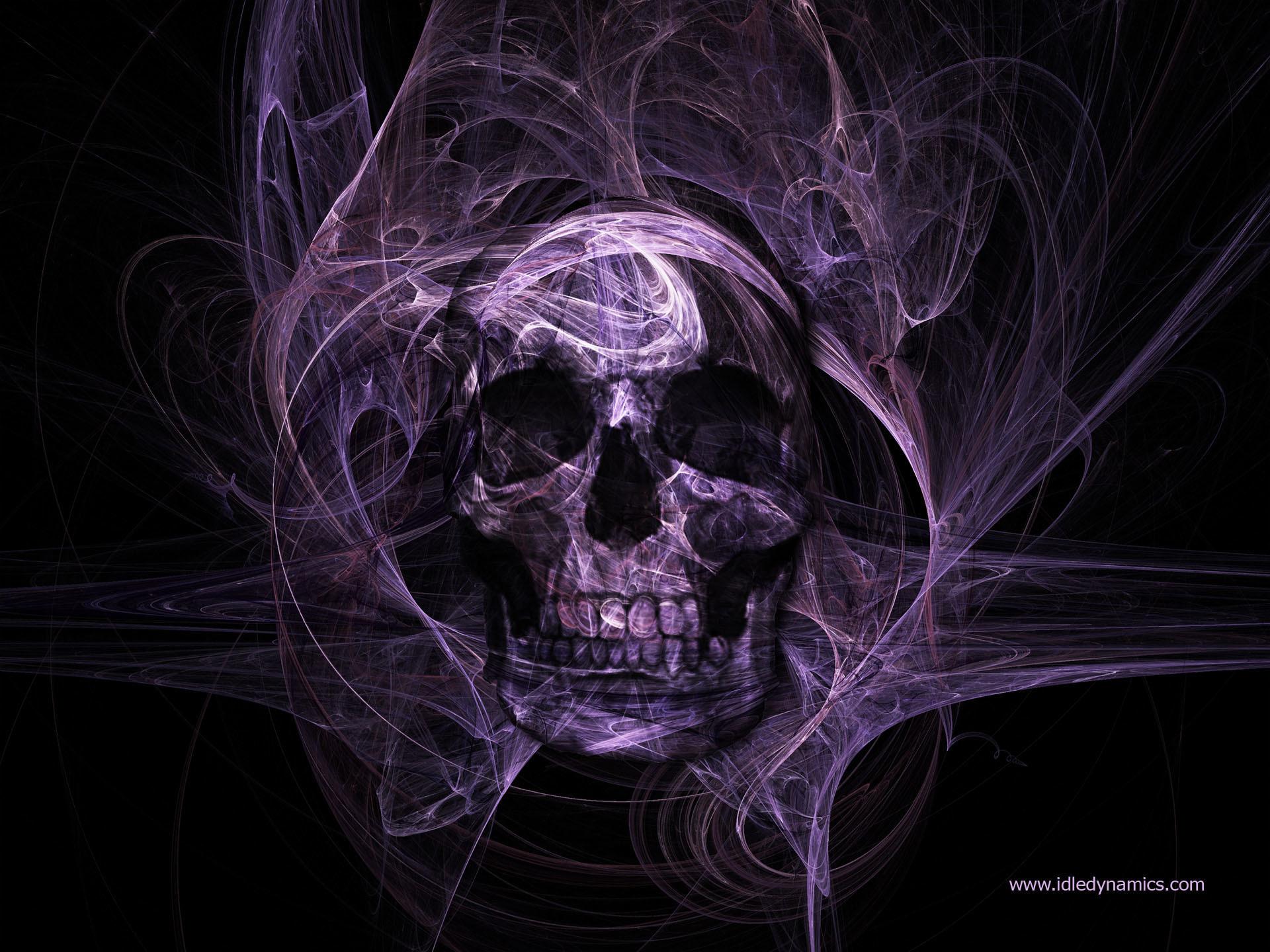 Res: 1920x1440, Dark - Skull Dark Colors Purple Wallpaper