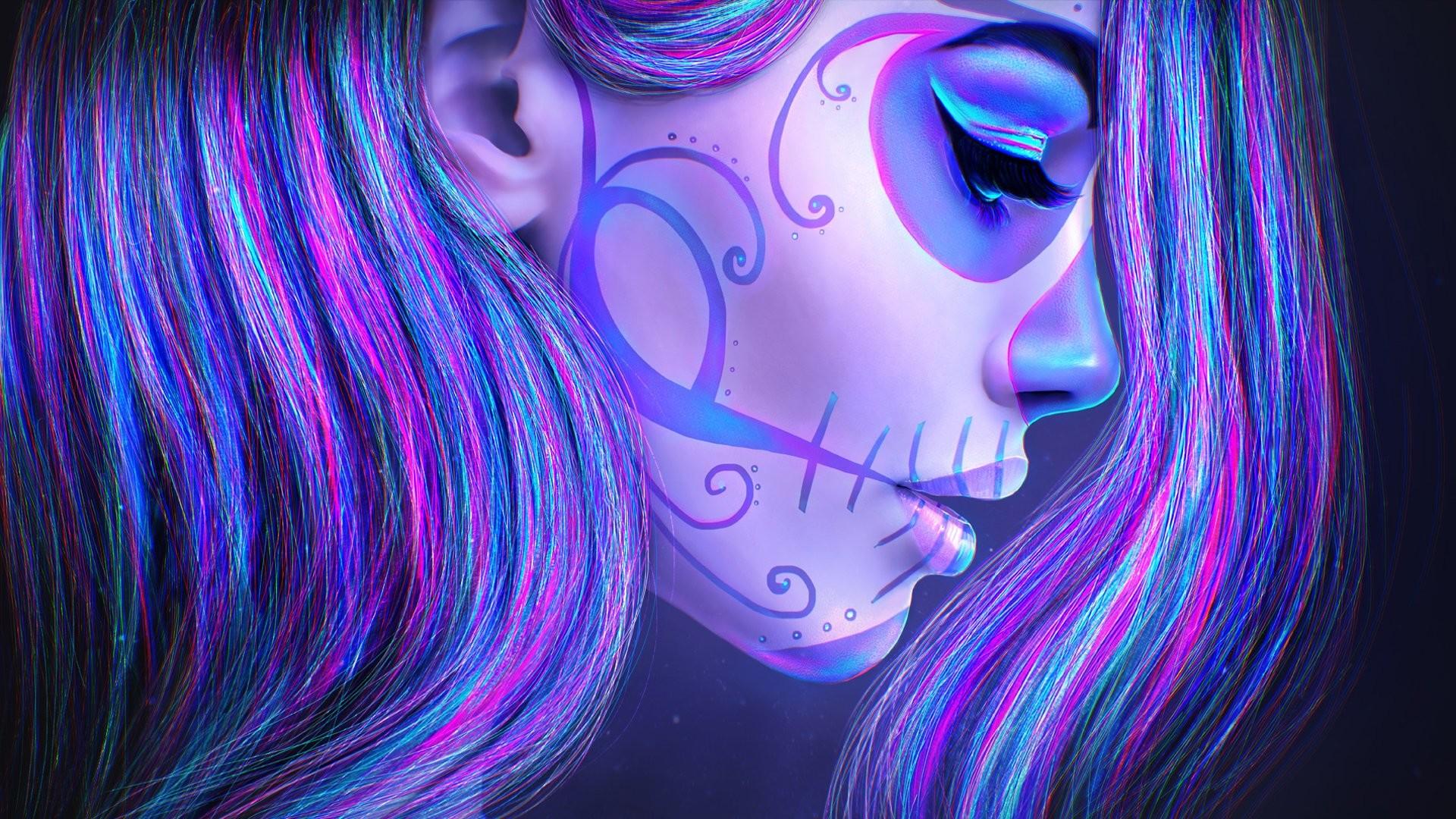 Res: 1920x1080, Artistic - Sugar Skull Wallpaper