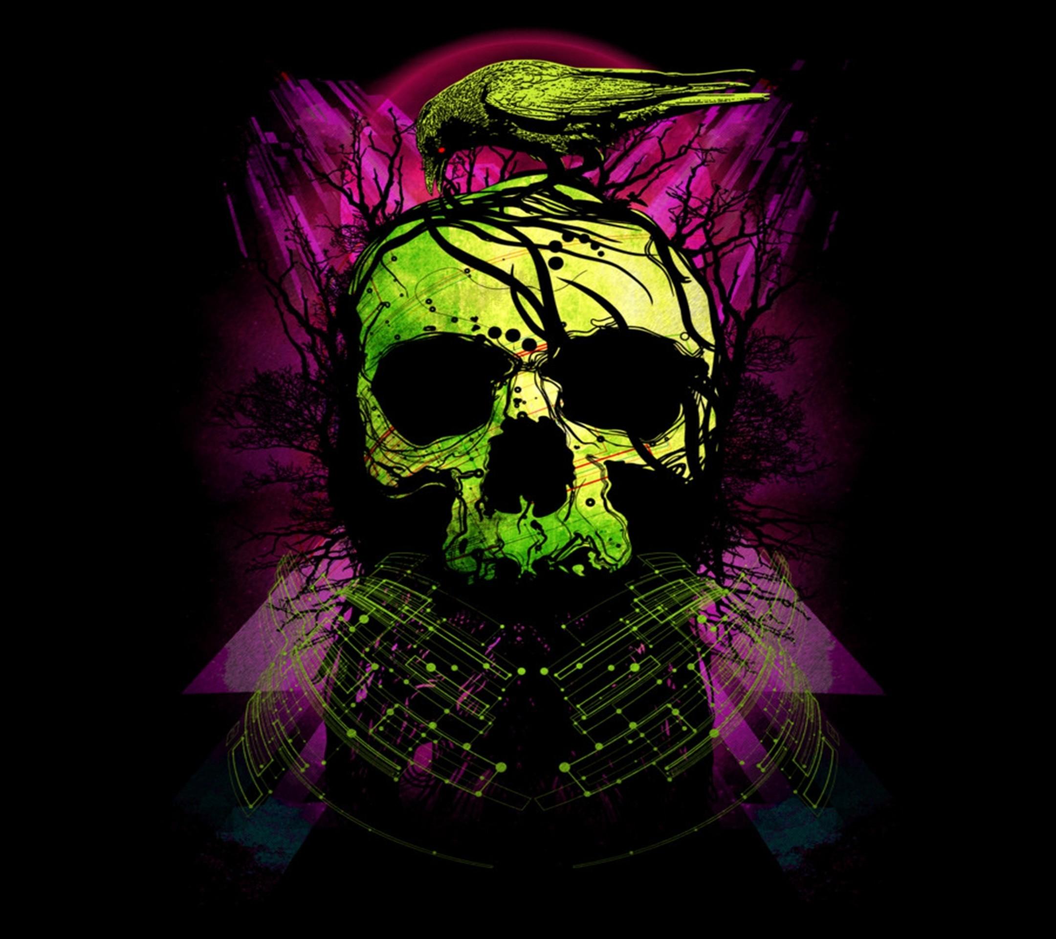 Res: 2160x1920, Dark / Skull () Mobile Wallpaper