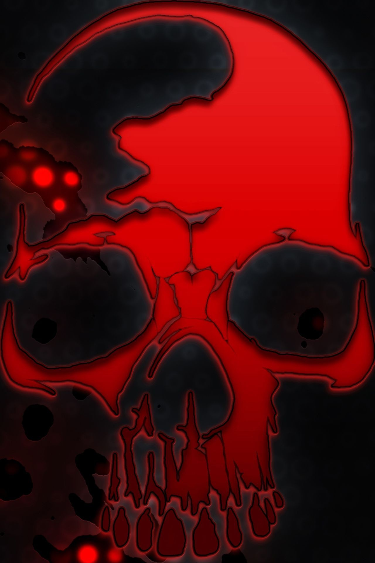 Res: 1280x1920, zombie-skull-wallpaper-hd-style2.jpg