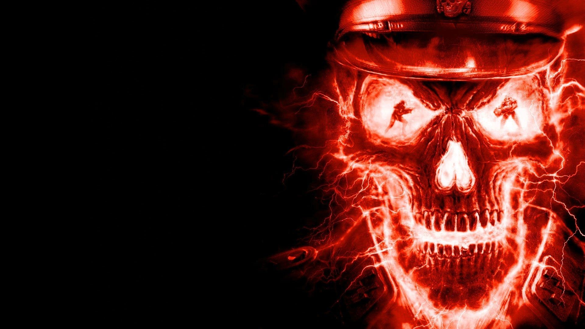 Res: 1920x1080, Fire Skull Wallpaper Free Download High PX ~ Music Skull .