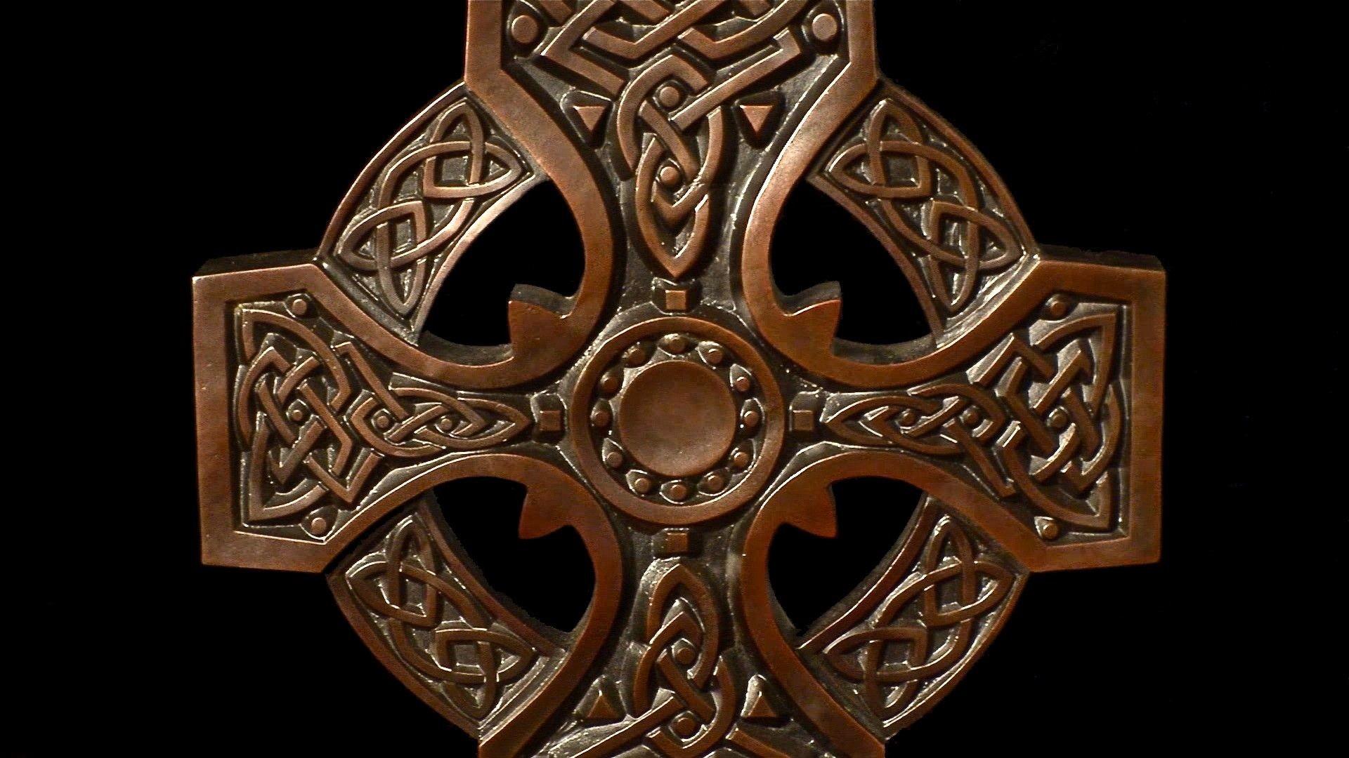 Res: 1920x1080, Custom Made Bronze Celtic Cross