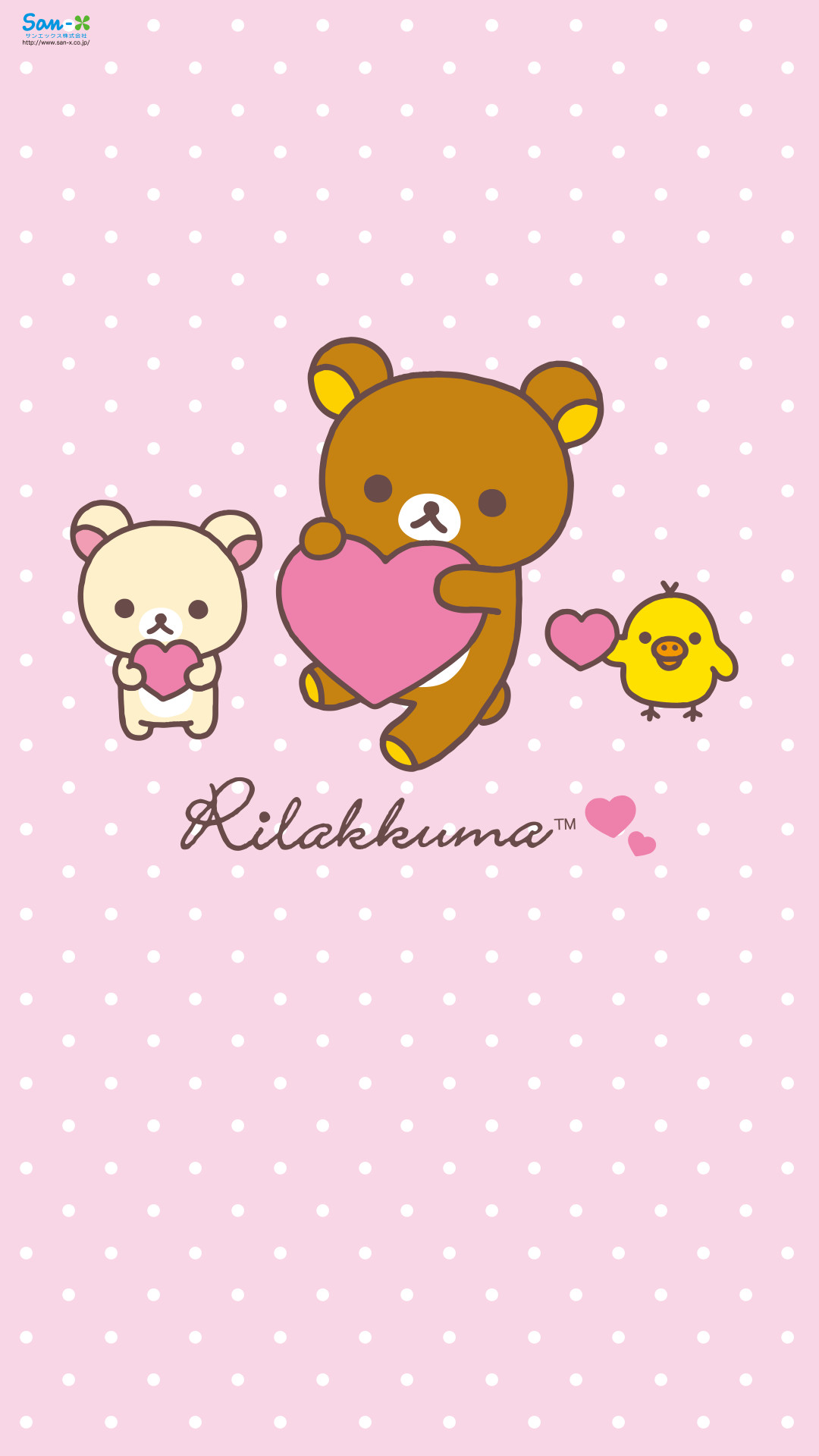 Res: 1080x1920, Quickly-put-small-fresh-Rilakkuma-for-your-phone-
