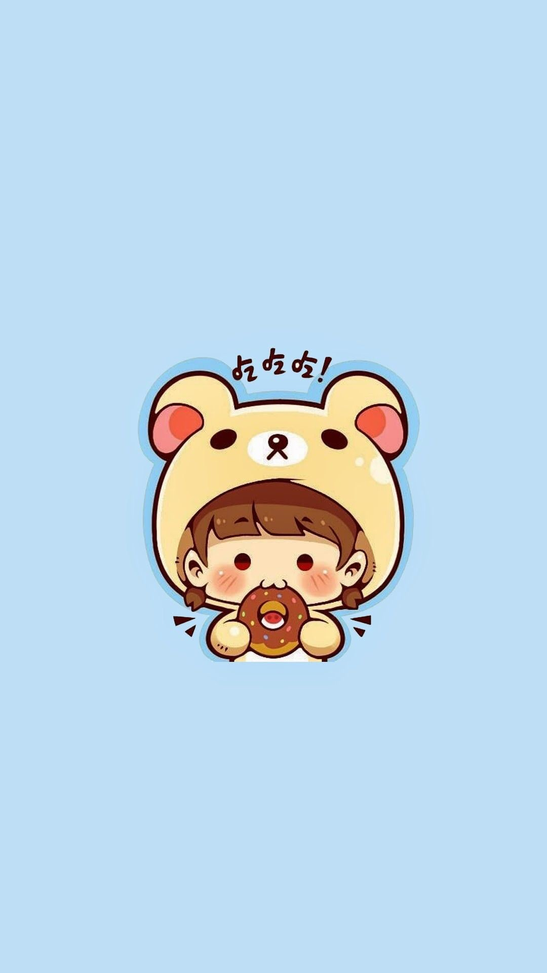 Res: 1080x1920, Couple Wallpaper, Kawaii Wallpaper, Kawaii Cute, Iphone Wallpapers,  Monsters, Japanese, Happy, Gao, Rilakkuma