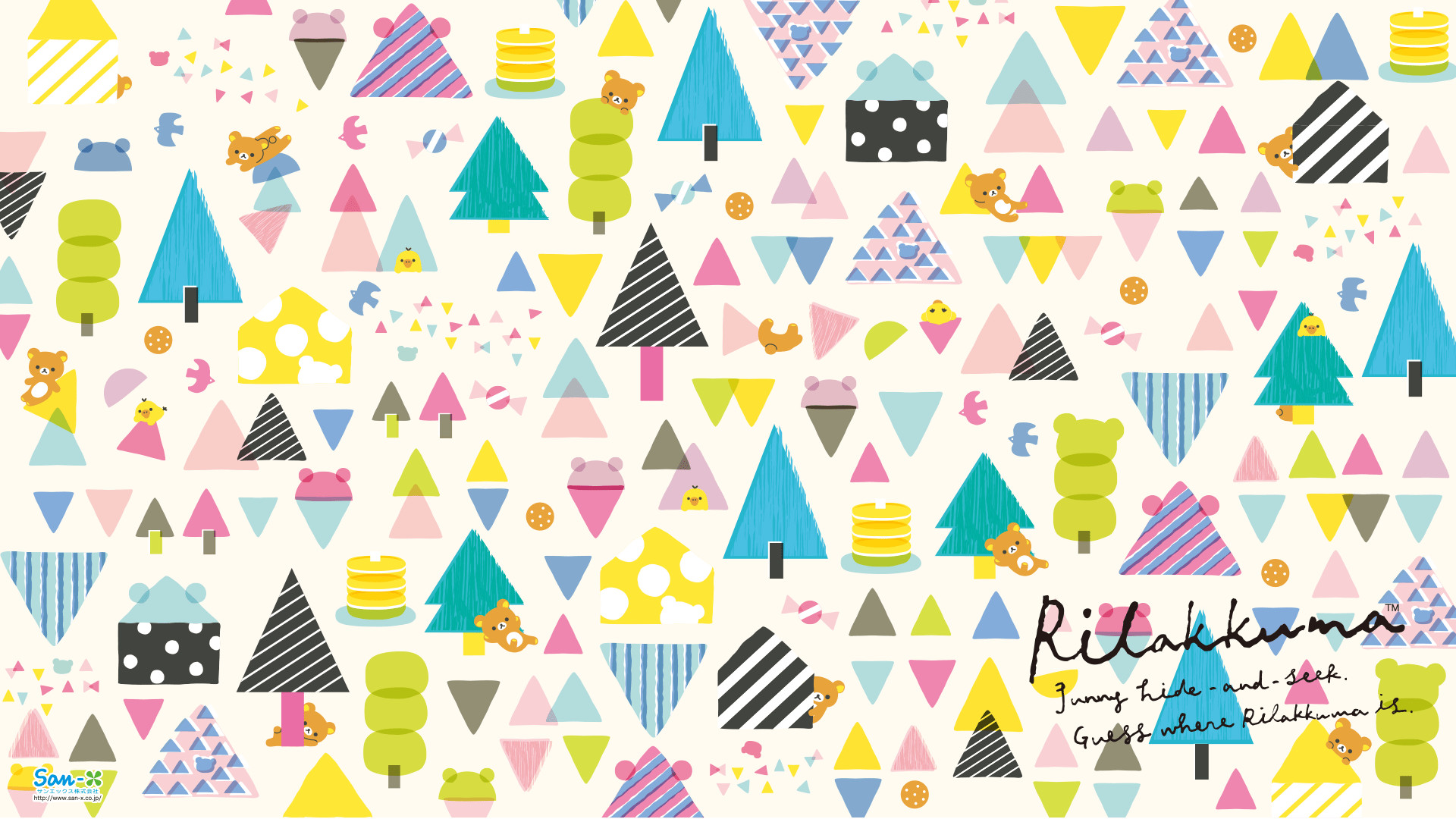 Res: 1920x1080, Rilakkuma Hide & Seek Wallpaper