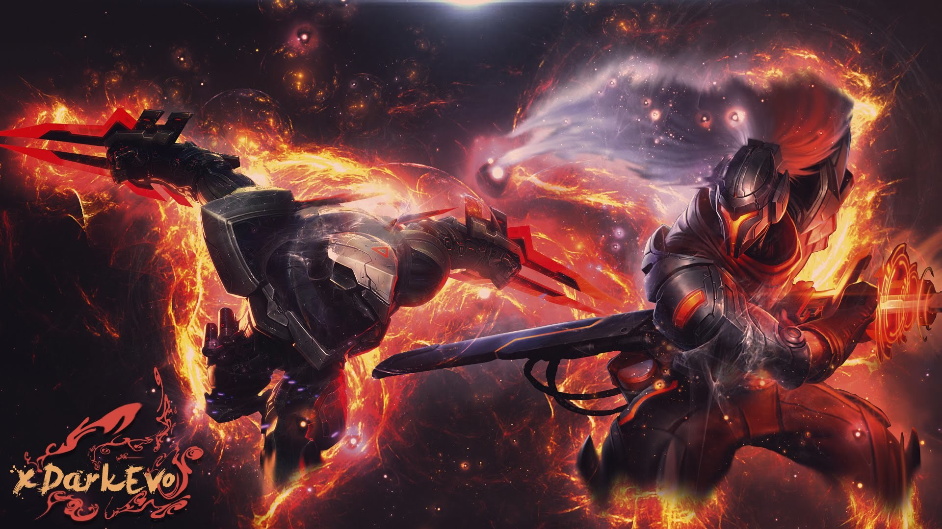 Res: 1920x1080, [PHOTOSHOP TUTORIAL]-cool wallpaper-[YASUO] & [ZED] - YouTube