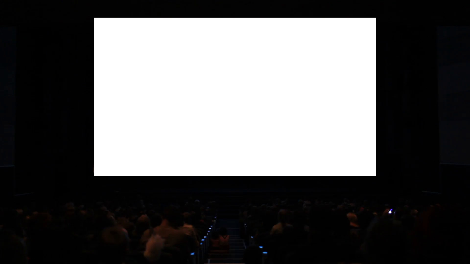 Res: 1920x1080, Viewers in the cinema house. Variant III. Screen size was 60 percent scaled from hd. Stock Video Footage - Videoblocks