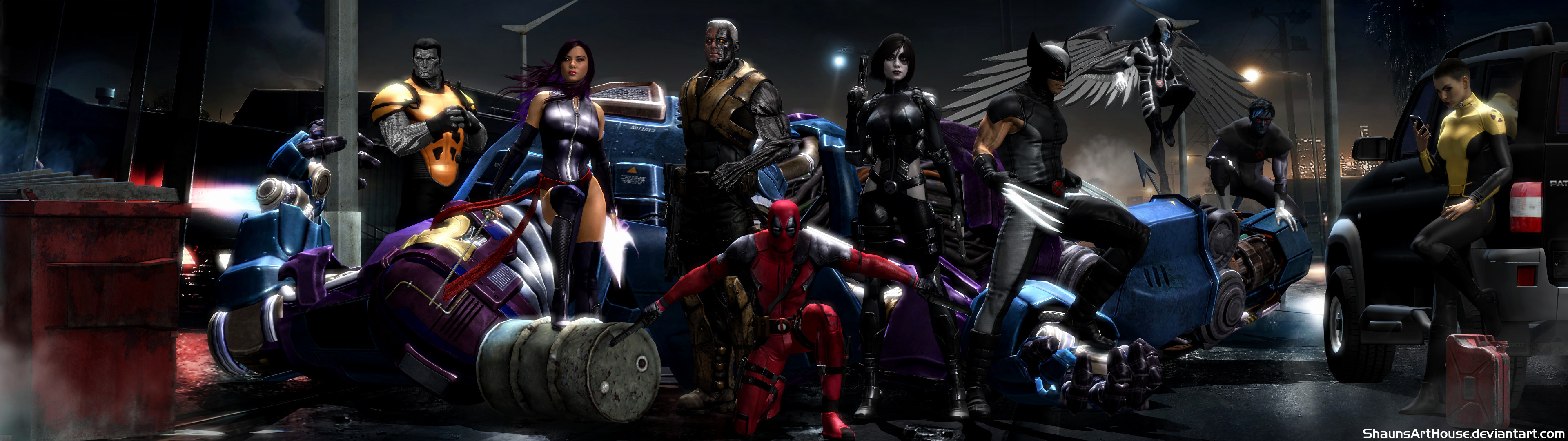 Res: 3840x1080, Dual Screen Wallpaper Best Of X force Movie Dual Screen Wallpaper by Shaunsarthouse On Deviantart
