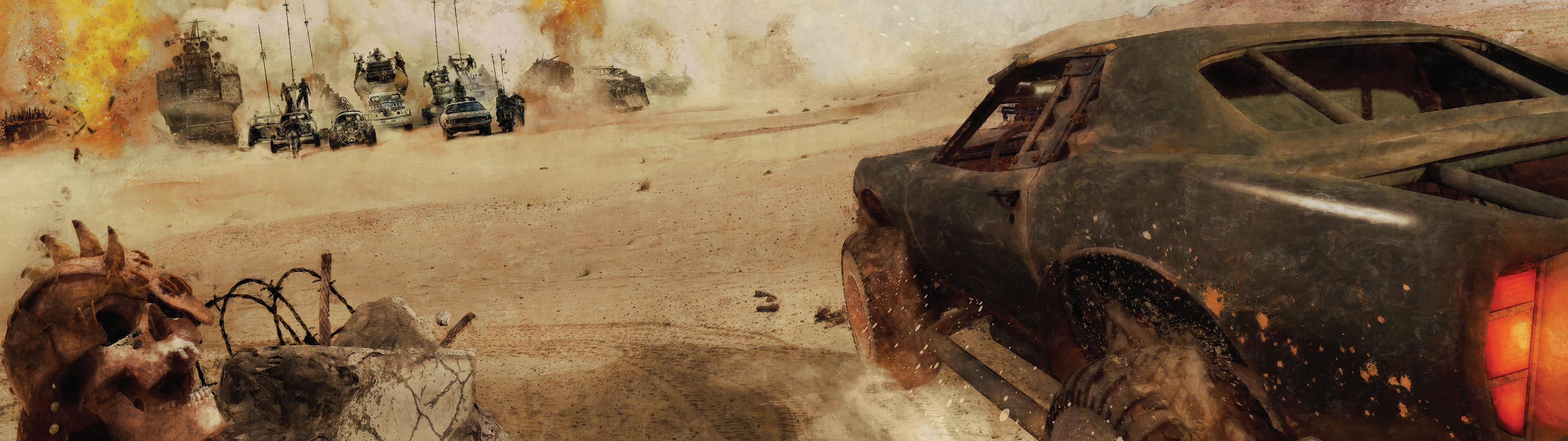 Res: 3840x1080, Movie - Mad Max: Fury Road Wallpaper