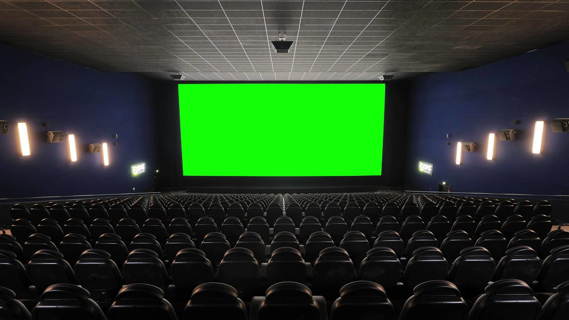 Res: 1920x1080, Cinema (Movie Theater, Movie House) with green screen - FreeHDGreenscreen Footage - YouTube
