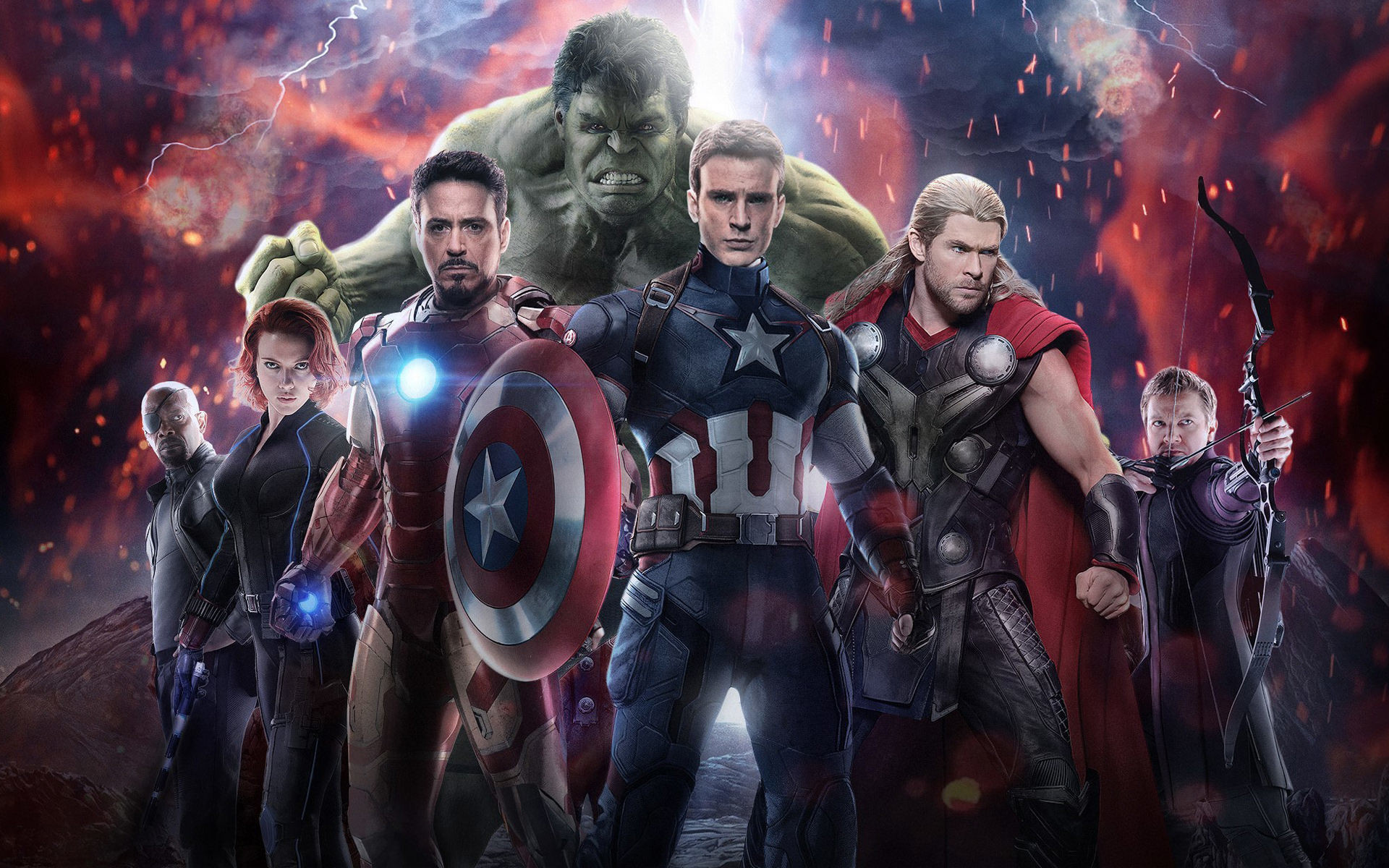 Res: 1920x1200, avengers-age-of-ultron-2015-superhero-film-wide screen