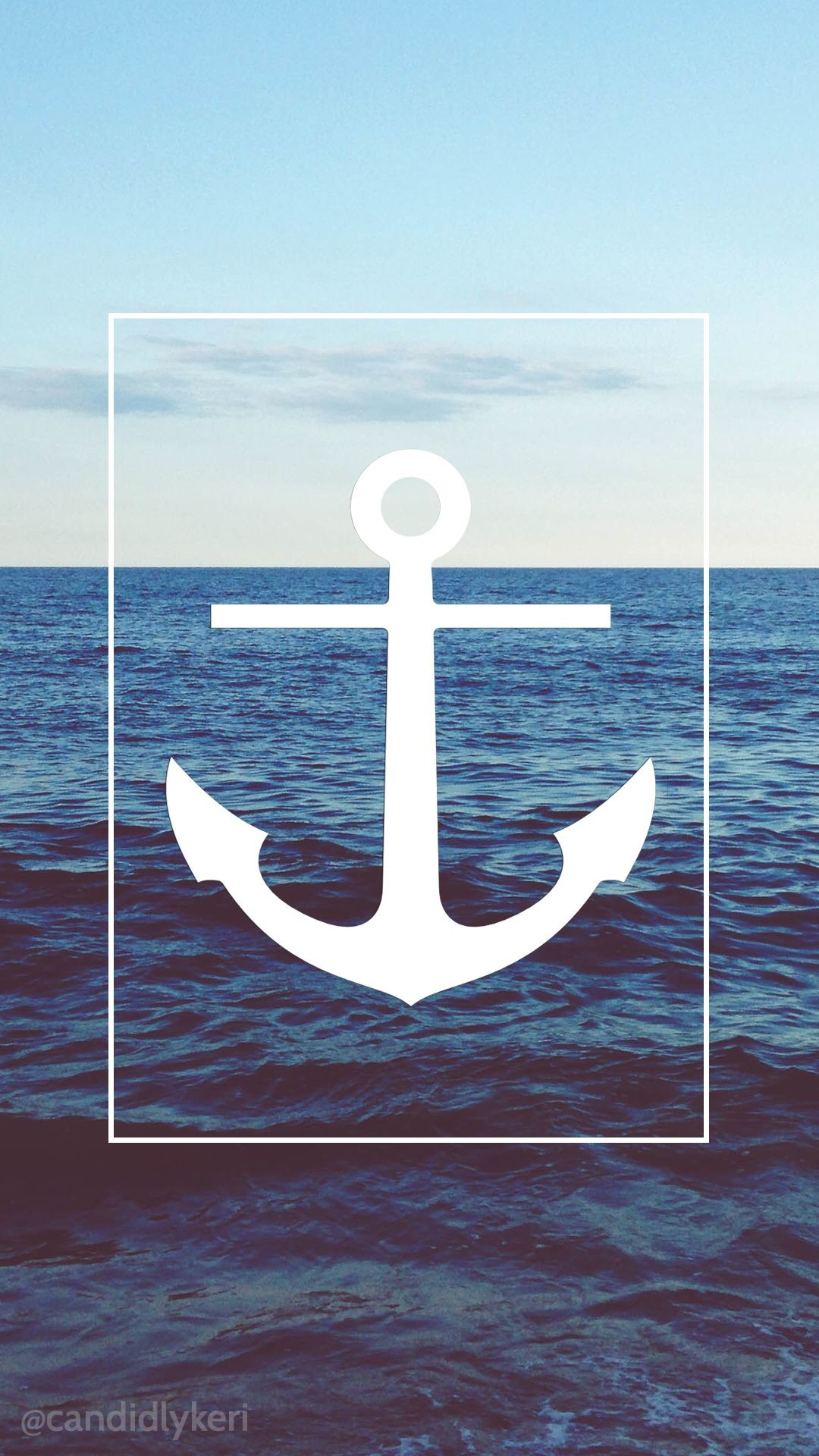 Res: 1080x1920, Sea Anchor Beach nautical wallpaper with black and white flowers free  download for iPhone android or
