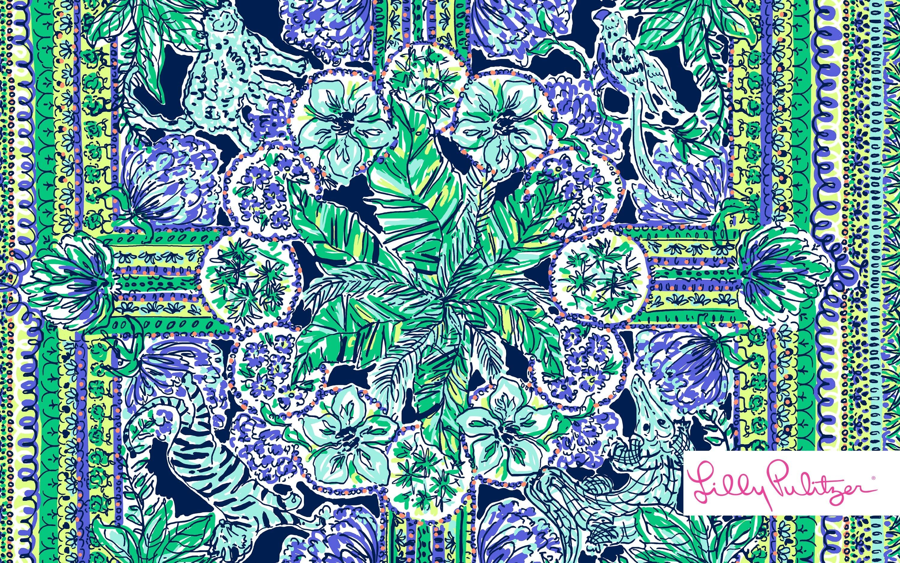 Res: 3000x1876, Lilly Pulitzer Palm Tree - wallpaper.