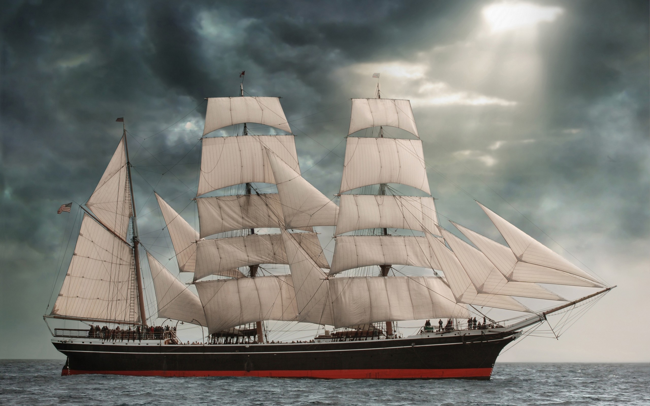Res: 2560x1600, Sailing Desktop Wallpaper