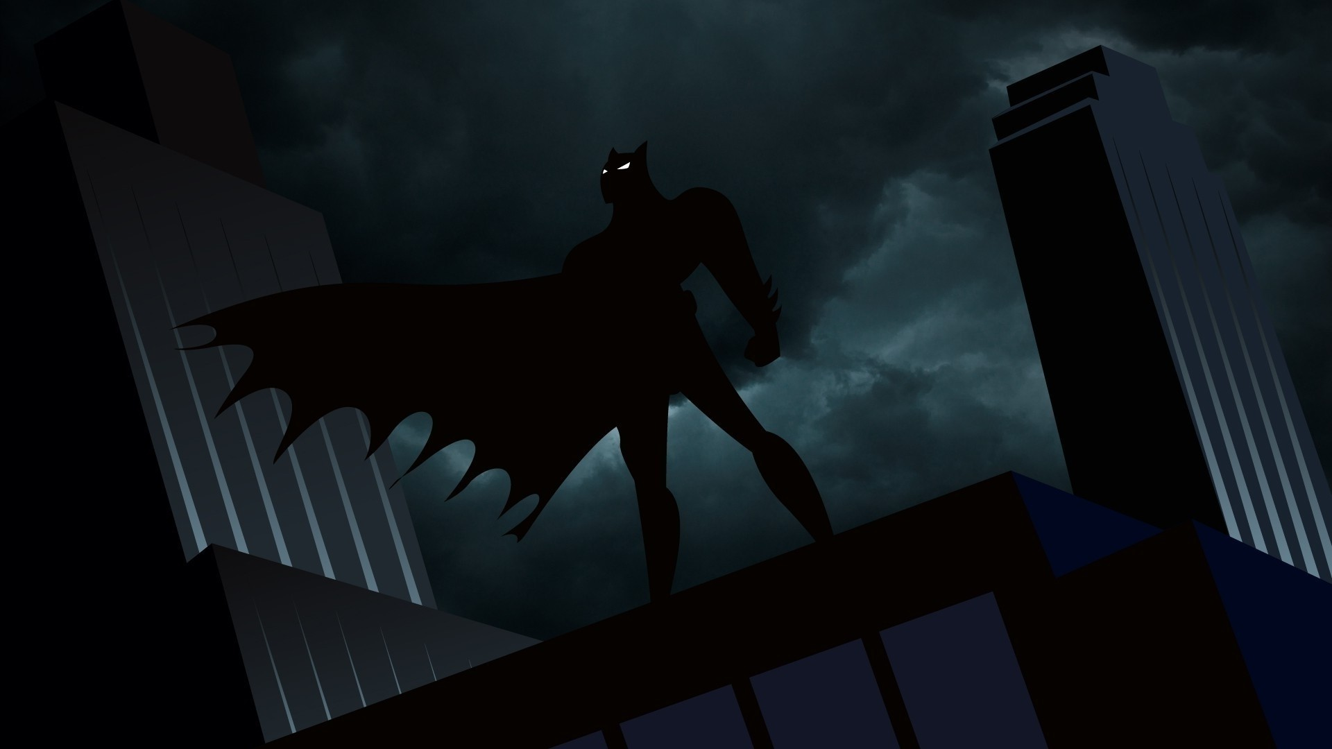 Res: 1920x1080, Batman, Animated Series, Gotham City Wallpapers Hd / Desktop And within  Abstract Batman Cartoon