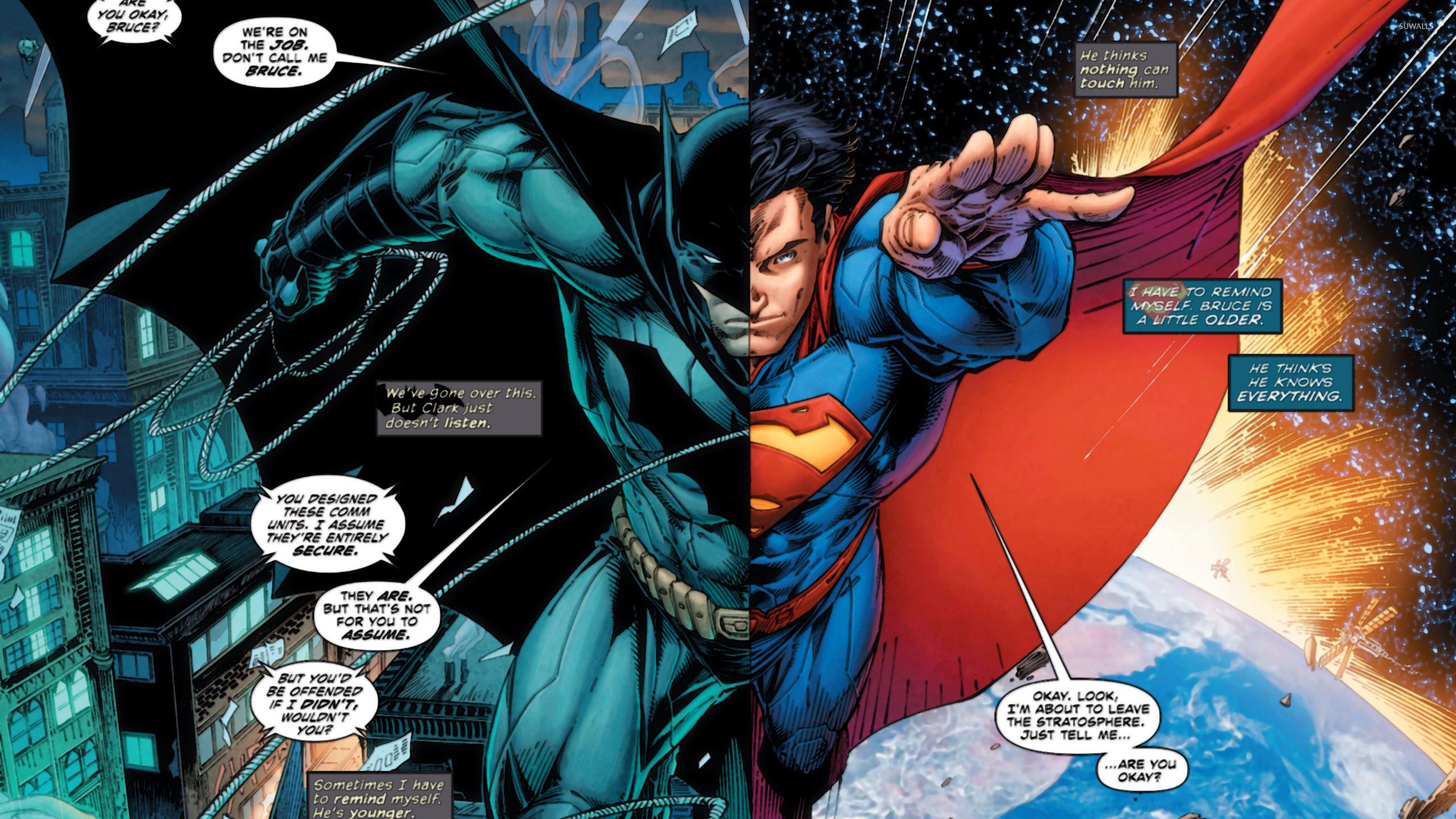 Res: 2560x1440, Superman and Batman wallpaper