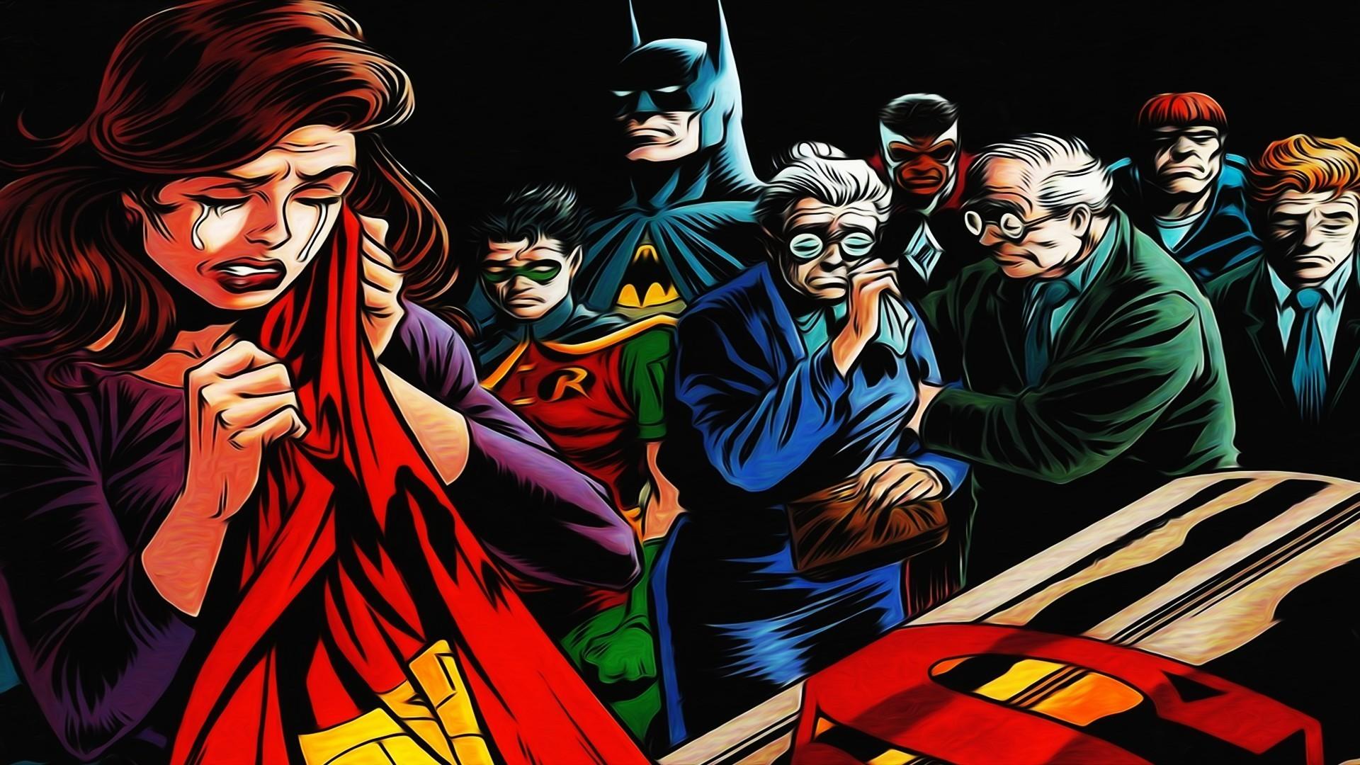 Res: 1920x1080, Cartoons batman dc comics superman wallpaper