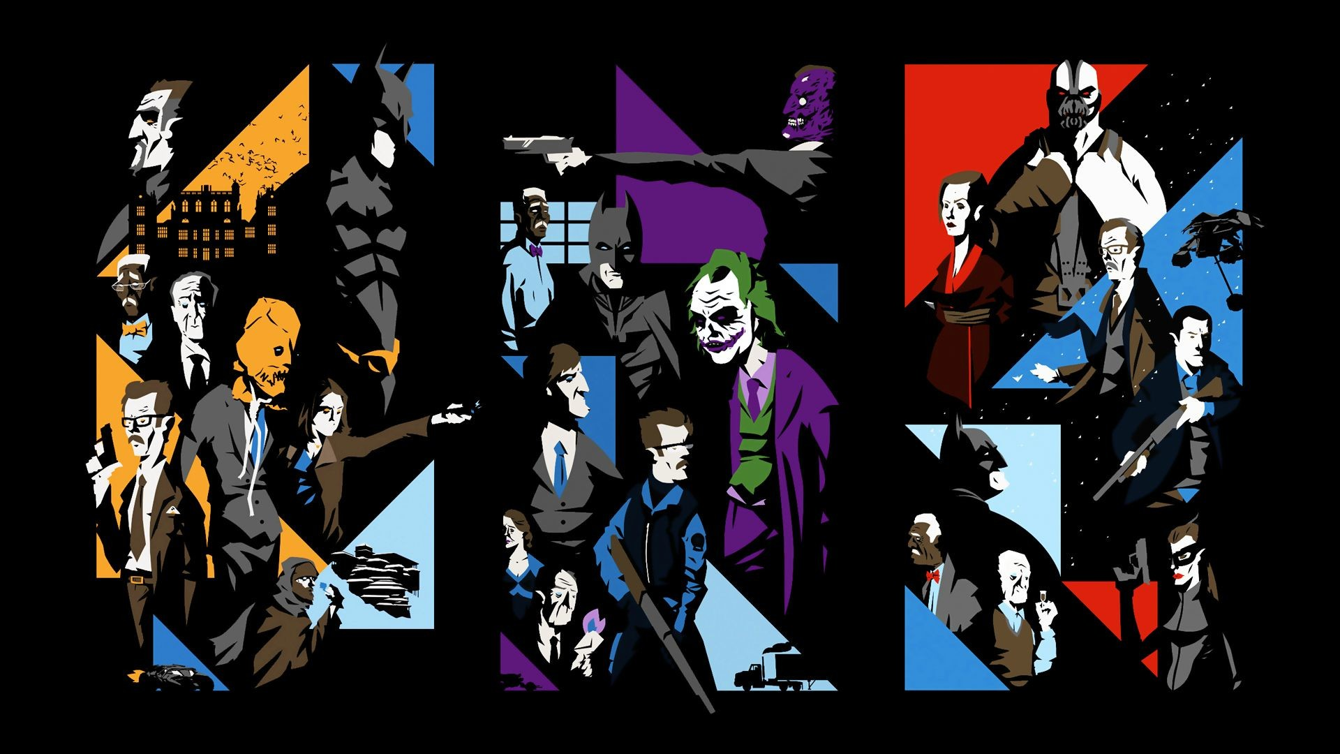 Res: 1920x1080, Batman cartoon characters. Download image