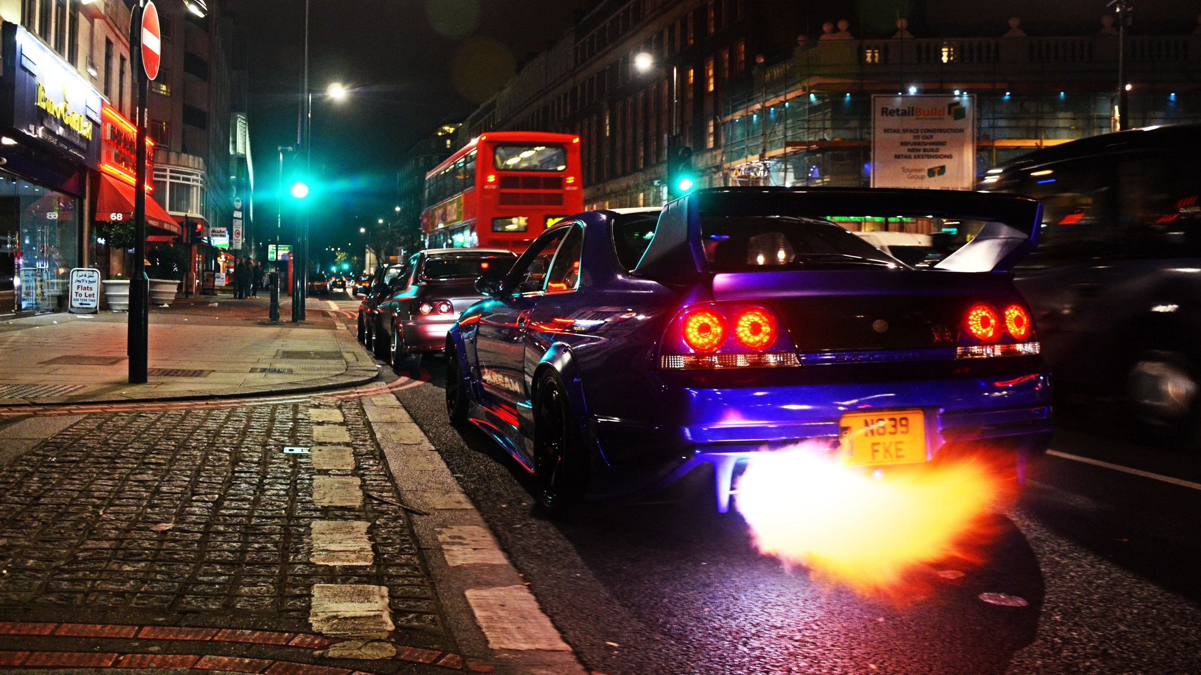 Res: 3840x2160, Nissan Skyline GTR R33 In London Wallpaper | Wallpaper Studio 10 | Tens of  thousands HD and UltraHD wallpapers for Android, Windows and Xbox