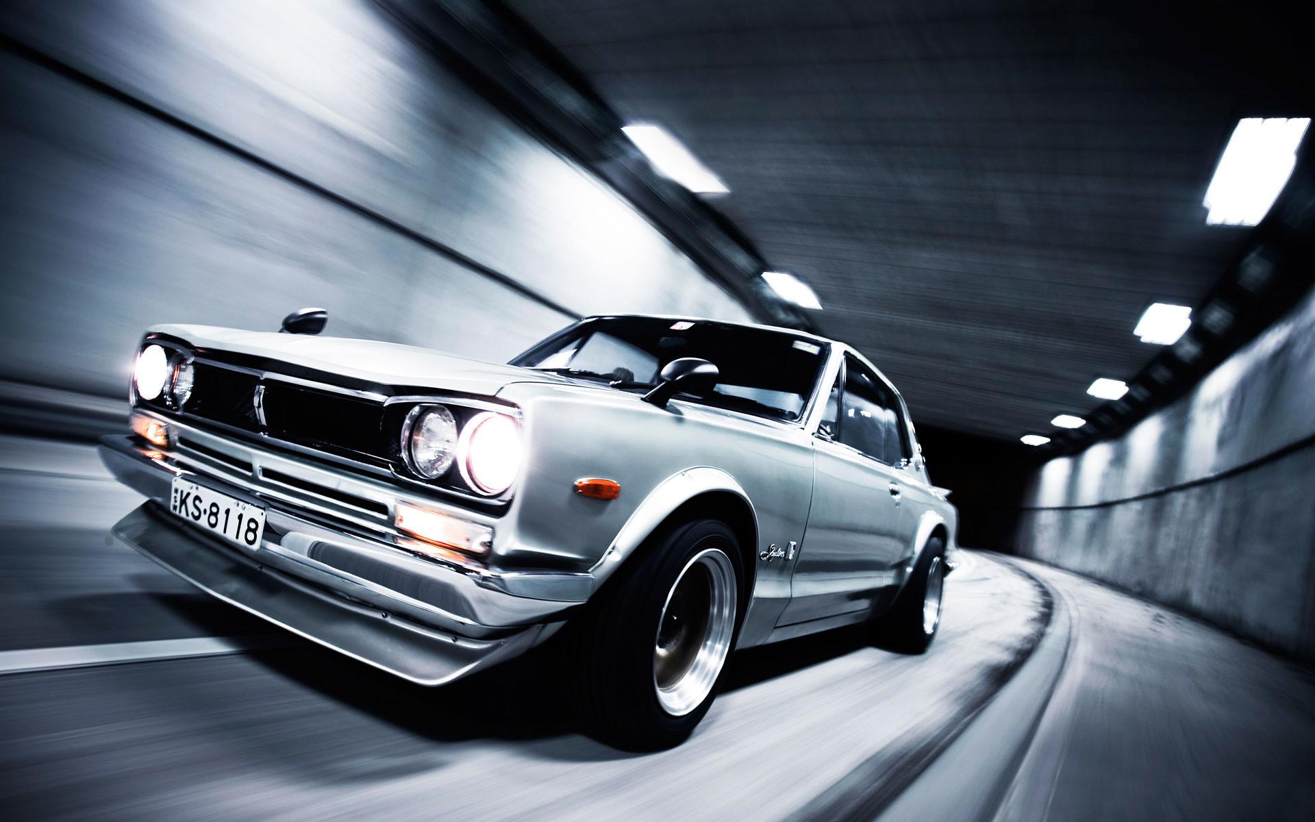 Res: 1920x1200, cars, tunnels, Nissan, vehicles, Nissan Skyline, side view, Nissan Skyline  GT-R - Free Wallpaper / WallpaperJam.com