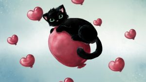 Valentine Kitten wallpapers