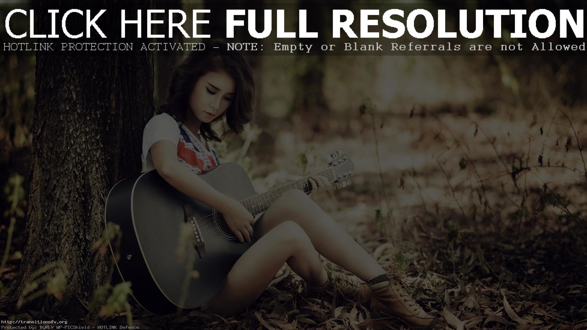 Res: 1920x1080, Girl With Guitar Wallpapers And Images Pictures Photos